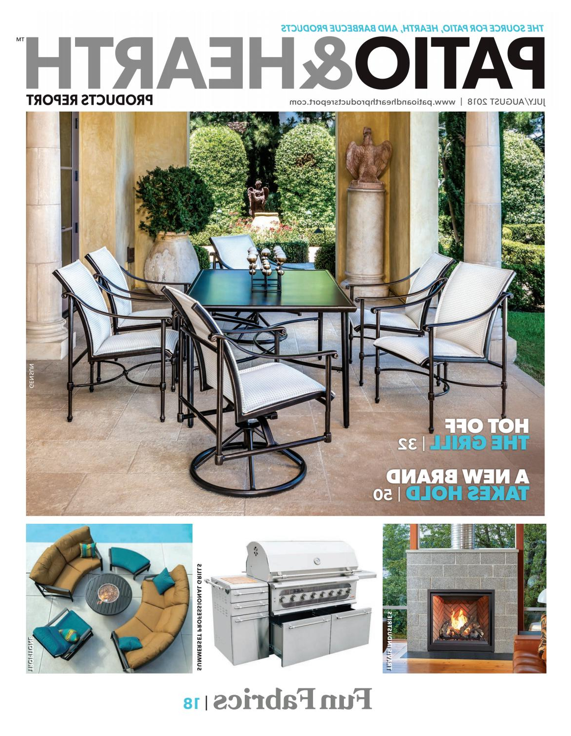 Trendy Patio & Hearth Products Report July/august 2018peninsula Media Inside Alexander Elastic Rectangular Market Sunbrella Umbrellas (View 16 of 20)