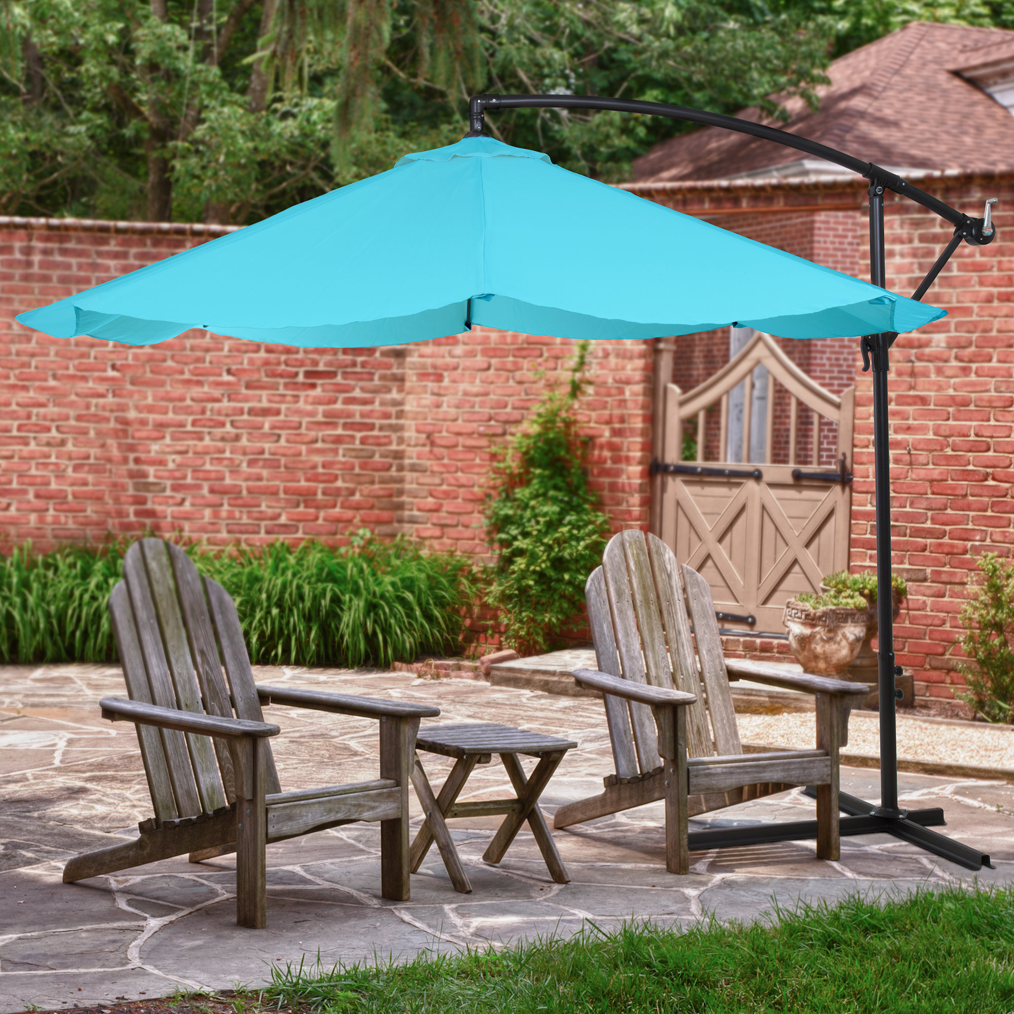 Vassalboro 10' Cantilever Umbrella For Fashionable Jaelynn Cantilever Umbrellas (Gallery 16 of 20)