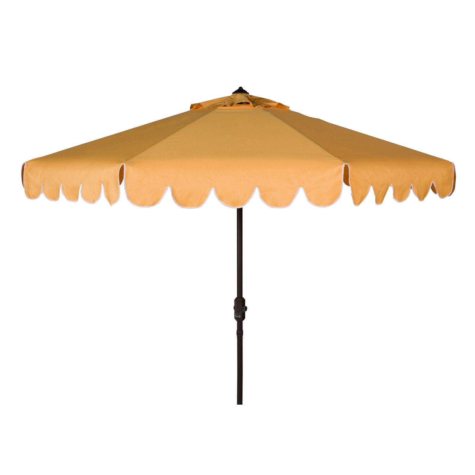 Venice Lighted Umbrellas Pertaining To Famous Safavieh Venice Single Scallop 9 Ft. Aluminum Auto Tilt Crank Patio (Gallery 2 of 20)