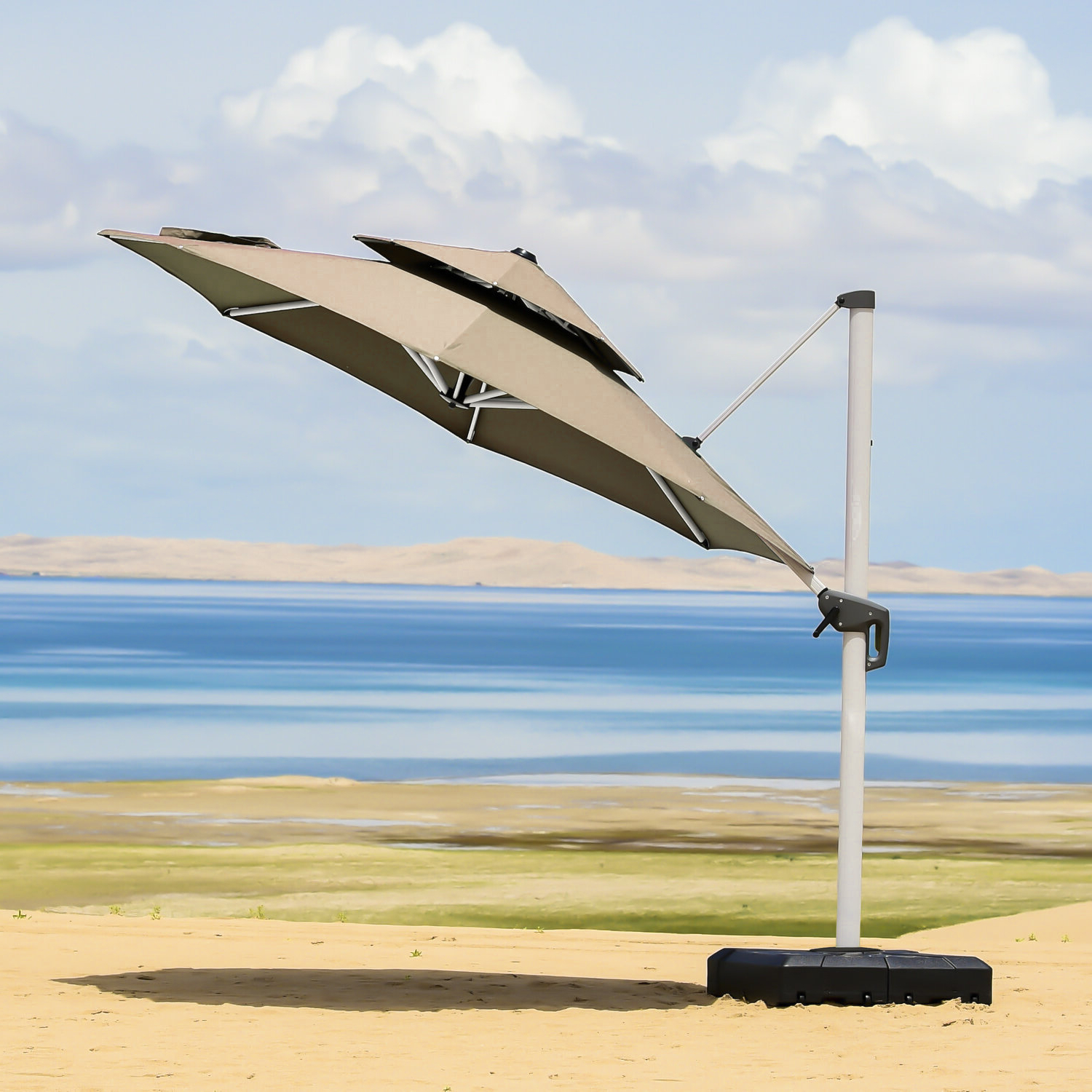 Voss Cantilever Sunbrella Umbrellas For Latest Mablethorpe 12' Cantilever Umbrella (View 20 of 20)