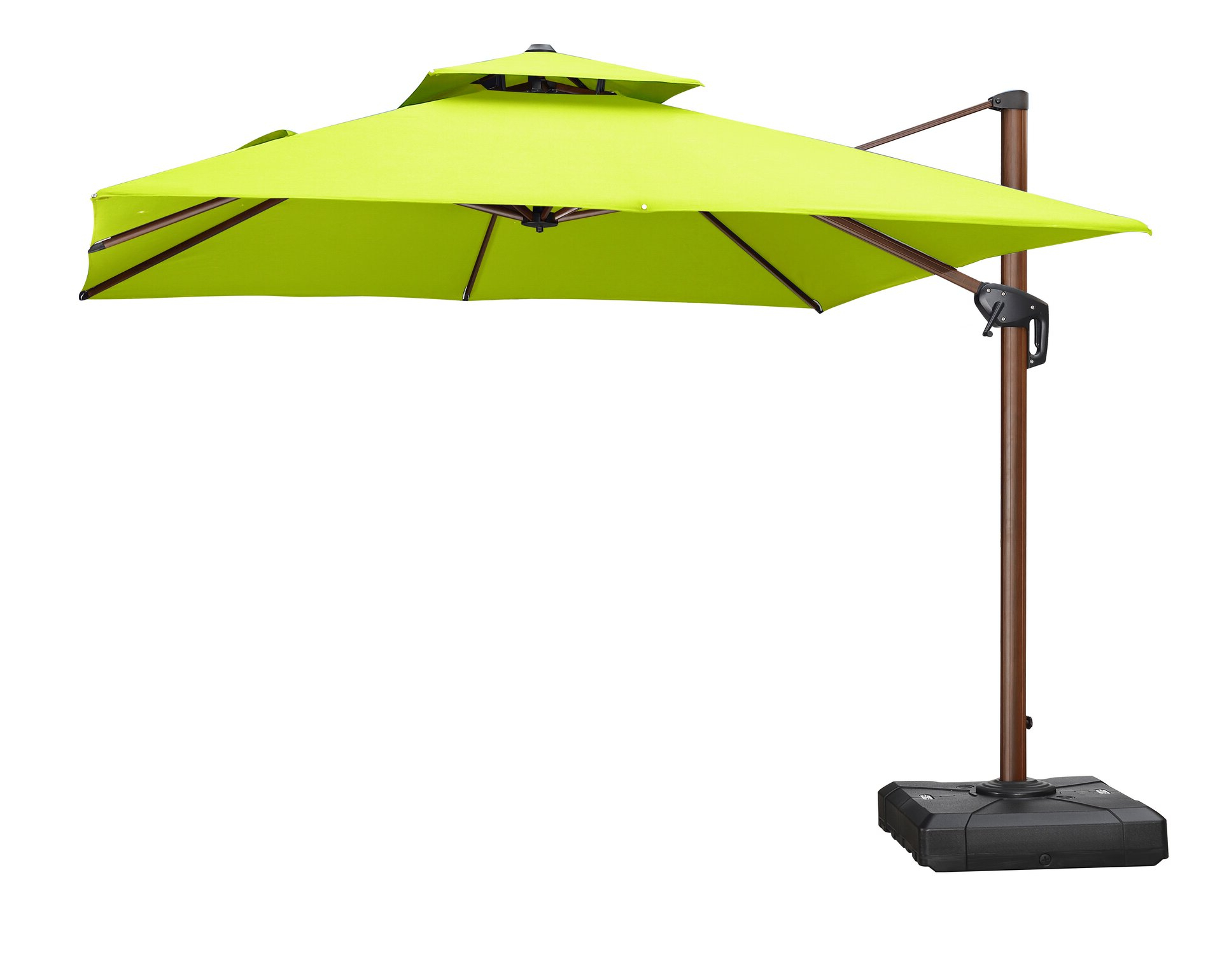 Waddell 10' Square Cantilever Umbrella In Well Liked Maglione Fabric 4cantilever Umbrellas (View 3 of 20)