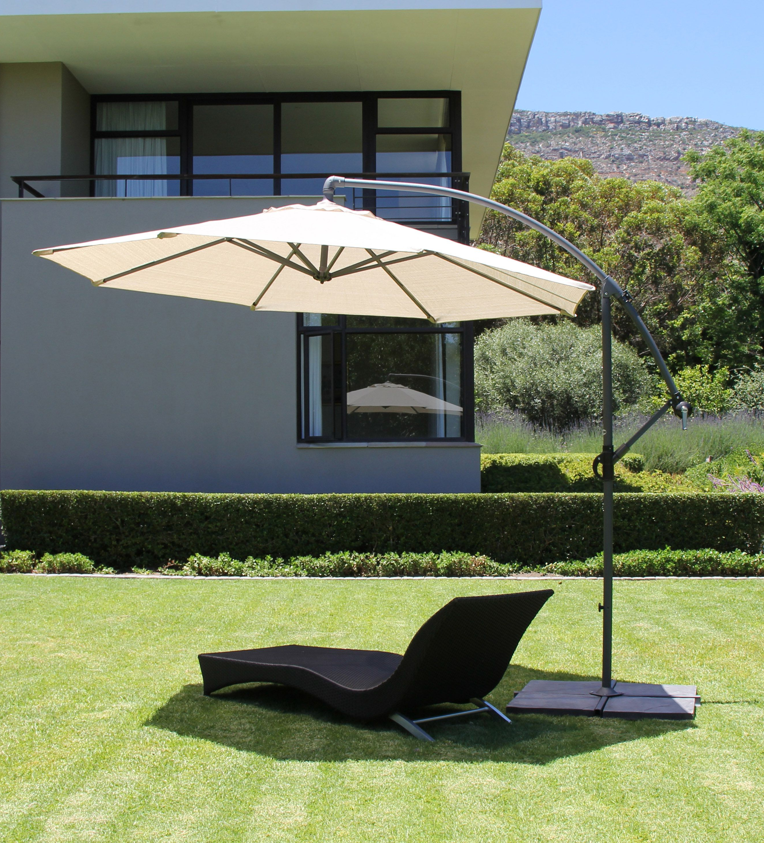 Well Known Coolaroo Cantilever Umbrellas Throughout A Gorgeous Coolaroo Cantilever Umbrella – Smoke Colour (View 18 of 20)