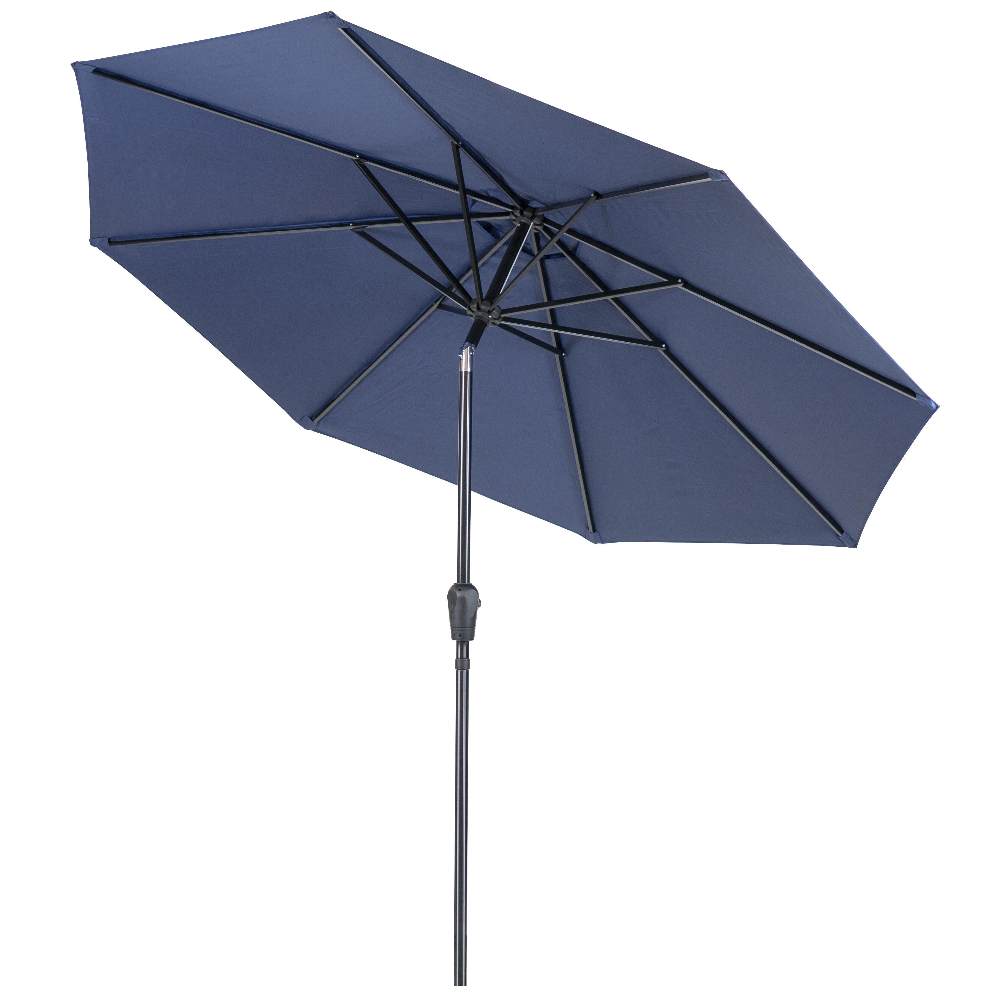 Well Known Devansh Market Umbrellas Within Patio Premier Round 9' Market Umbrella (View 17 of 20)