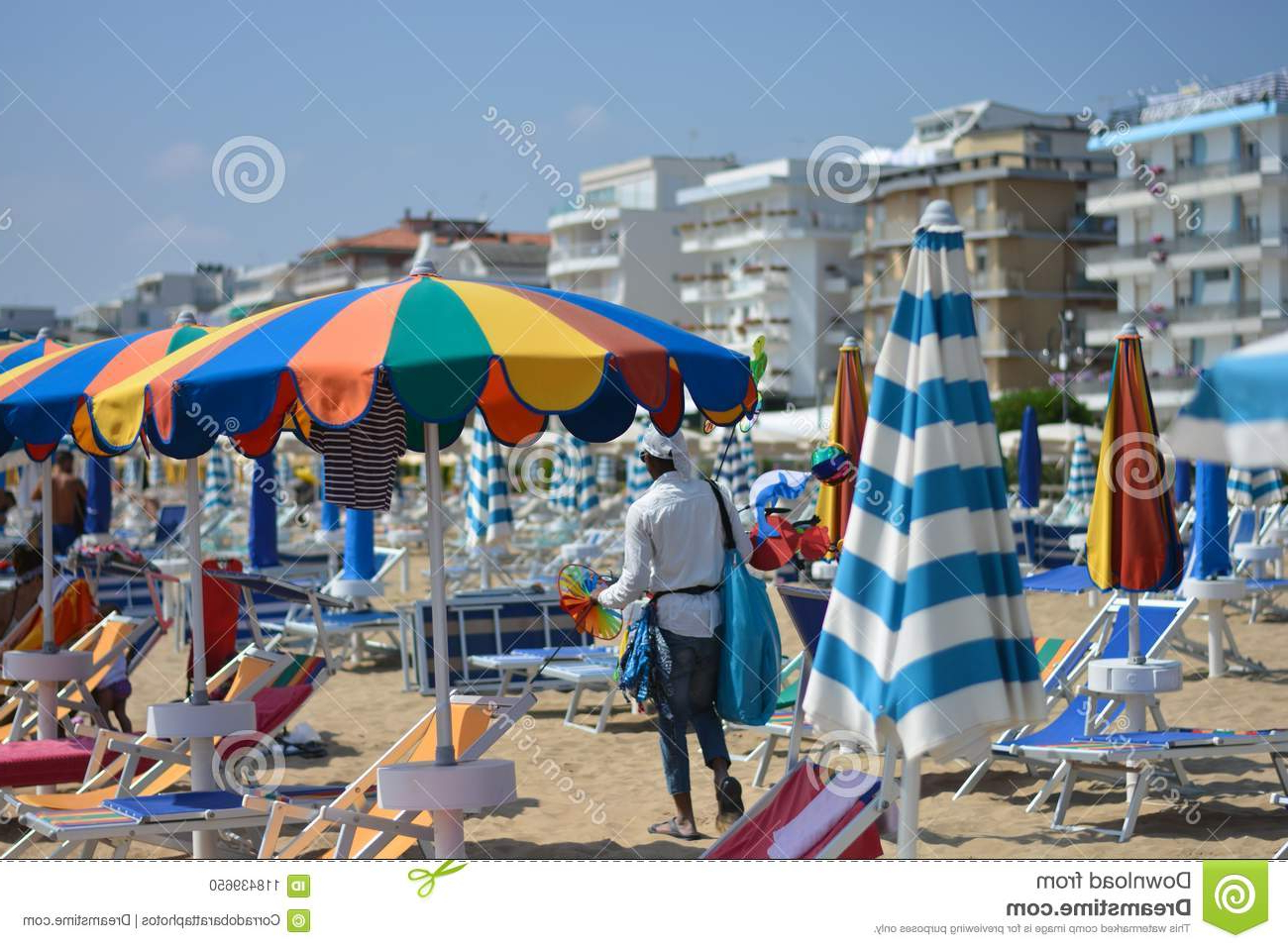 Well Known Italian Beach Umbrellas With African Emigrants Who Are Pushed To Sellers On Italian Beaches (View 19 of 20)