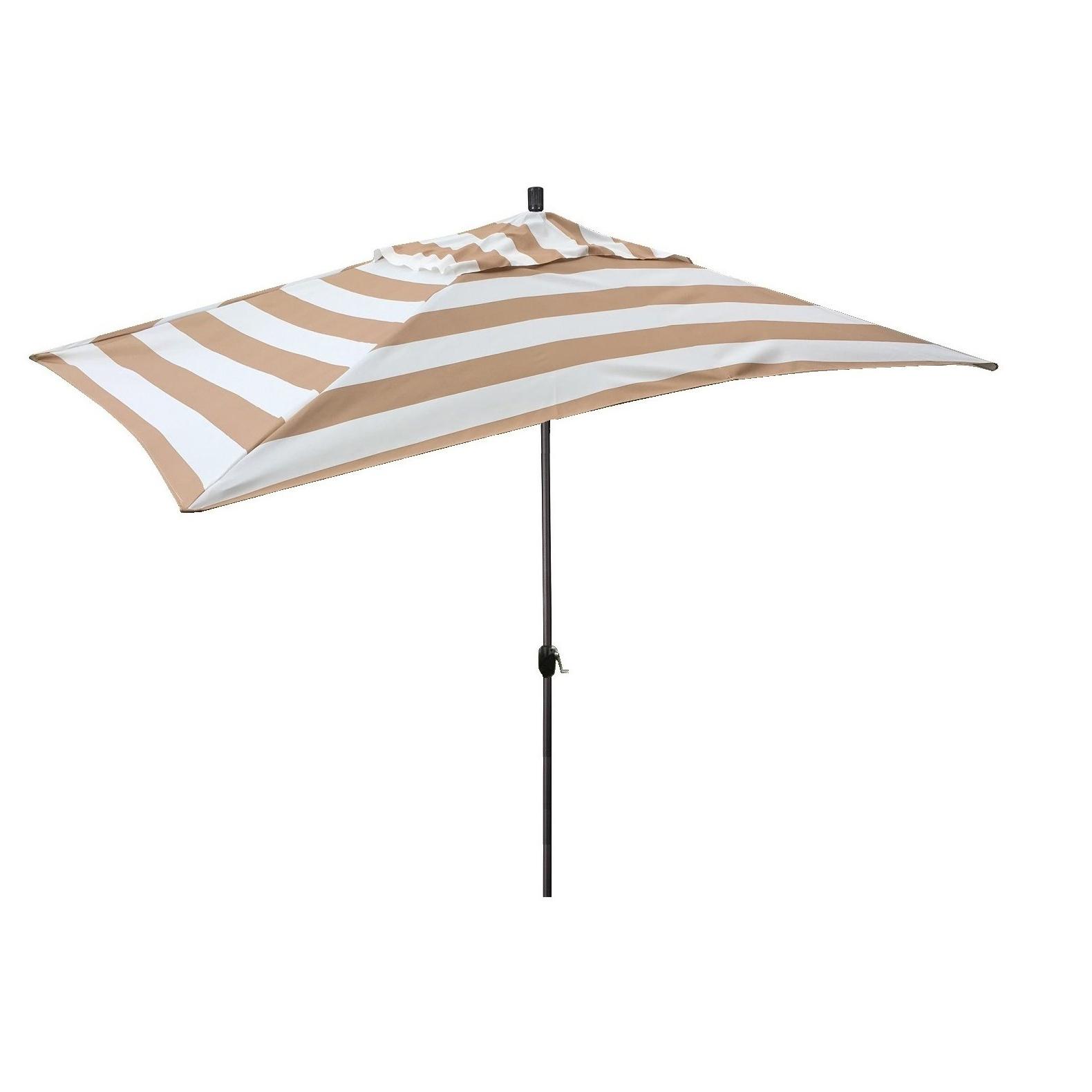Well Known Jalynn 10' X 6' Rectangular Market Umbrella Within Dena Rectangular Market Umbrellas (View 4 of 20)