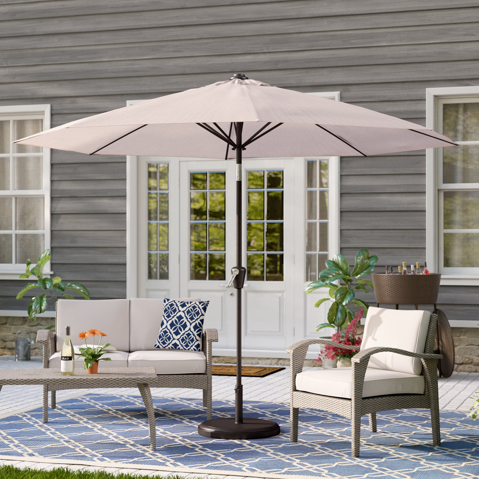 Well Known Keltner Patio Outdoor Market Umbrellas Pertaining To Taube 9' Market Umbrella (View 19 of 20)