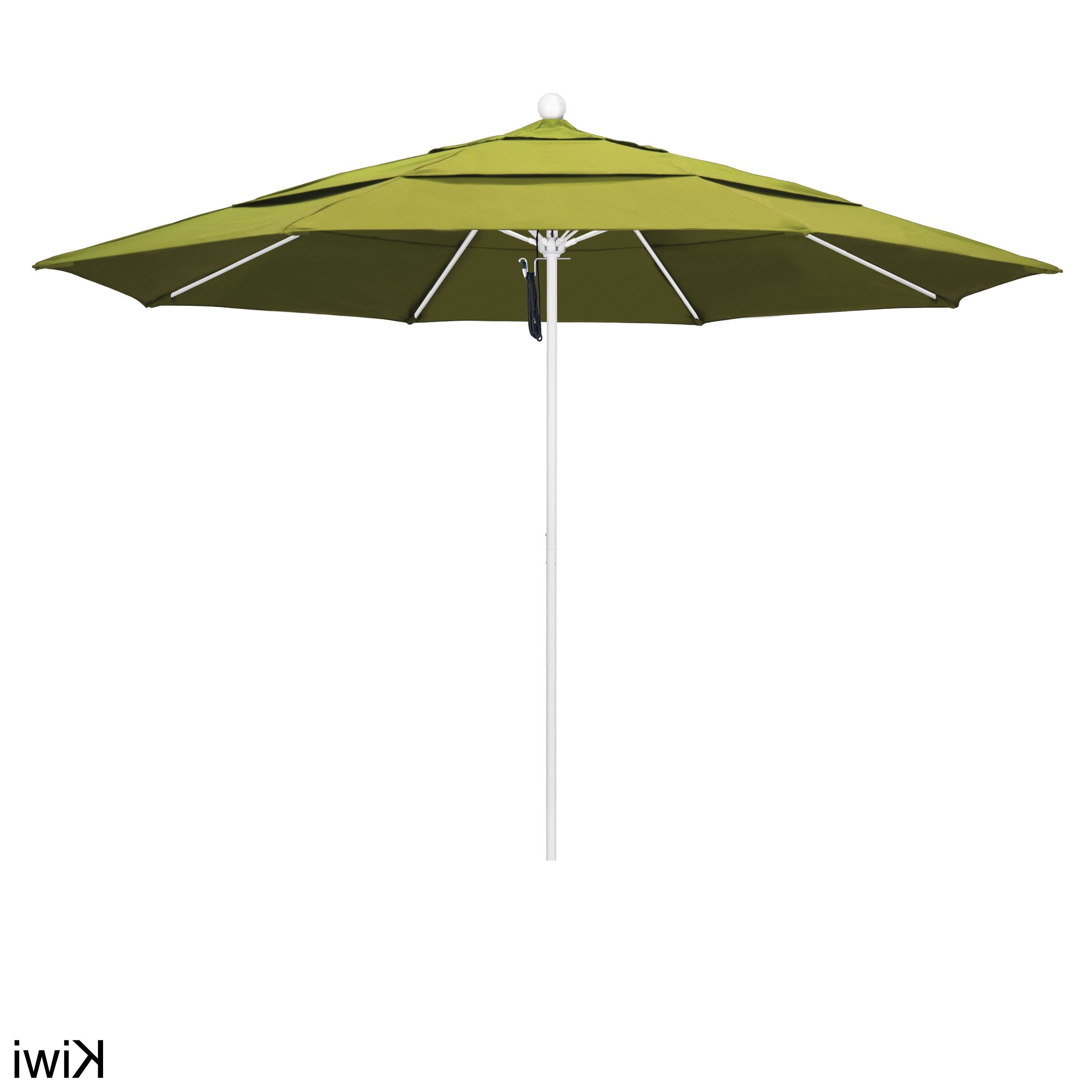 Well Known Mucci Madilyn Market Sunbrella Umbrellas Within California Umbrella 11' Rd Frame, Fiberglass Rib Market Umbrella (View 19 of 20)