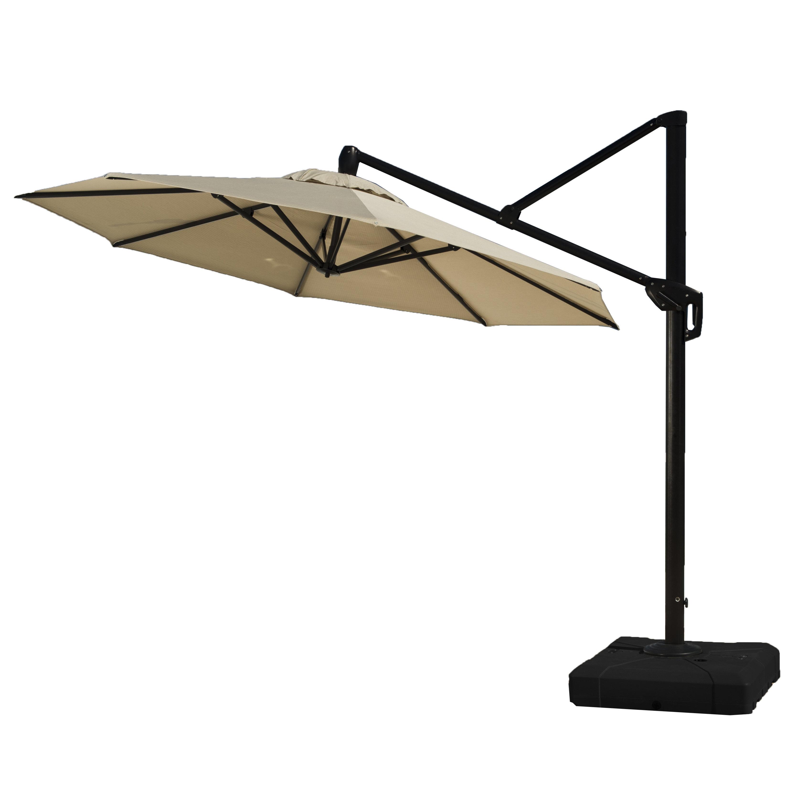 Well Known Nasiba Square Cantilever Sunbrella Umbrellas For Sol 72 Outdoor Ceylon 10' Cantilever Sunbrella Umbrella (View 12 of 20)