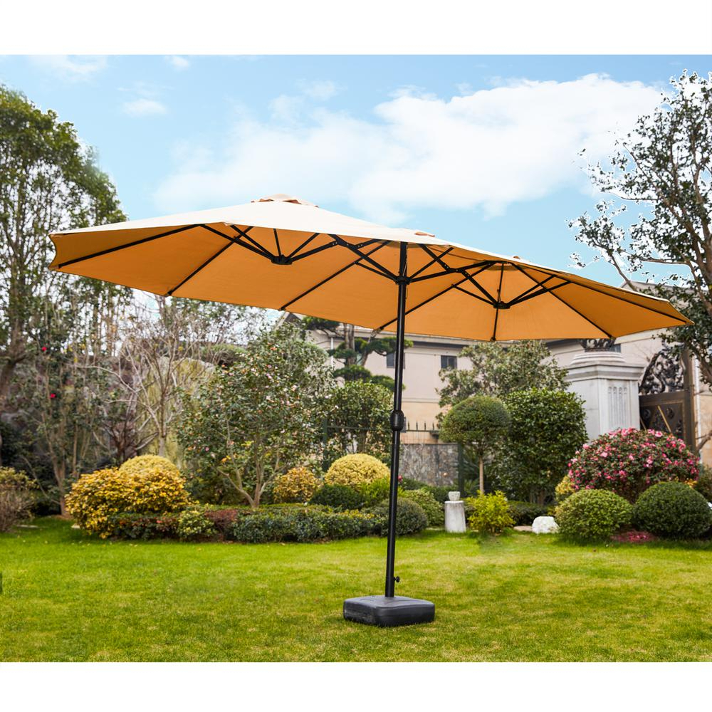 Well Known Zadie Twin Rectangular Market Umbrellas Within Patio Festival 9 X 15 Ft (View 17 of 20)