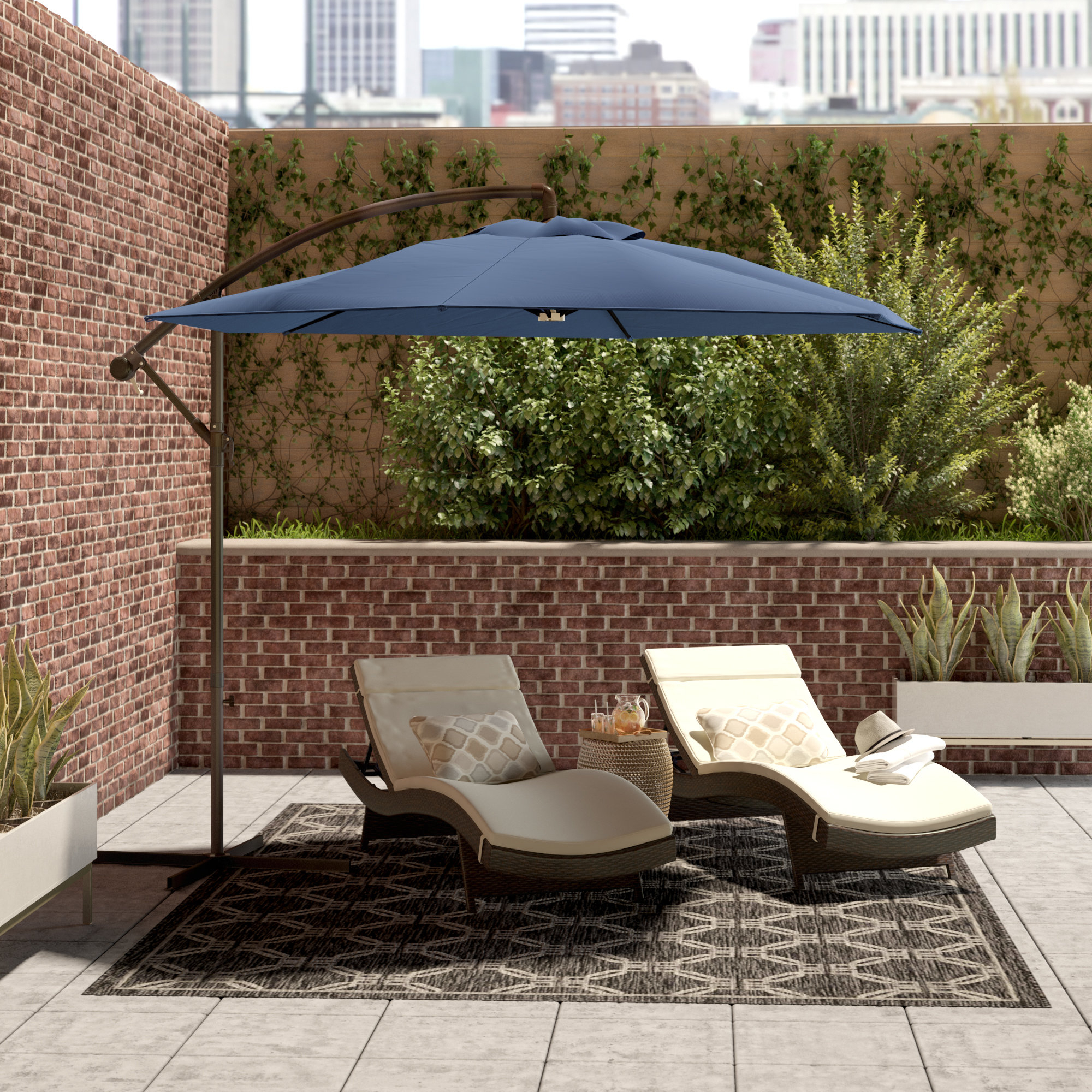 Well Liked Amaris Cantilever Umbrellas Throughout 10' Cantilever Umbrella (View 19 of 20)