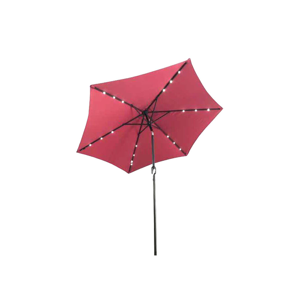 Well Liked Brayden Studio Fiqueroa 9' Lighted Umbrella With Regard To Branam Lighted Umbrellas (View 8 of 20)