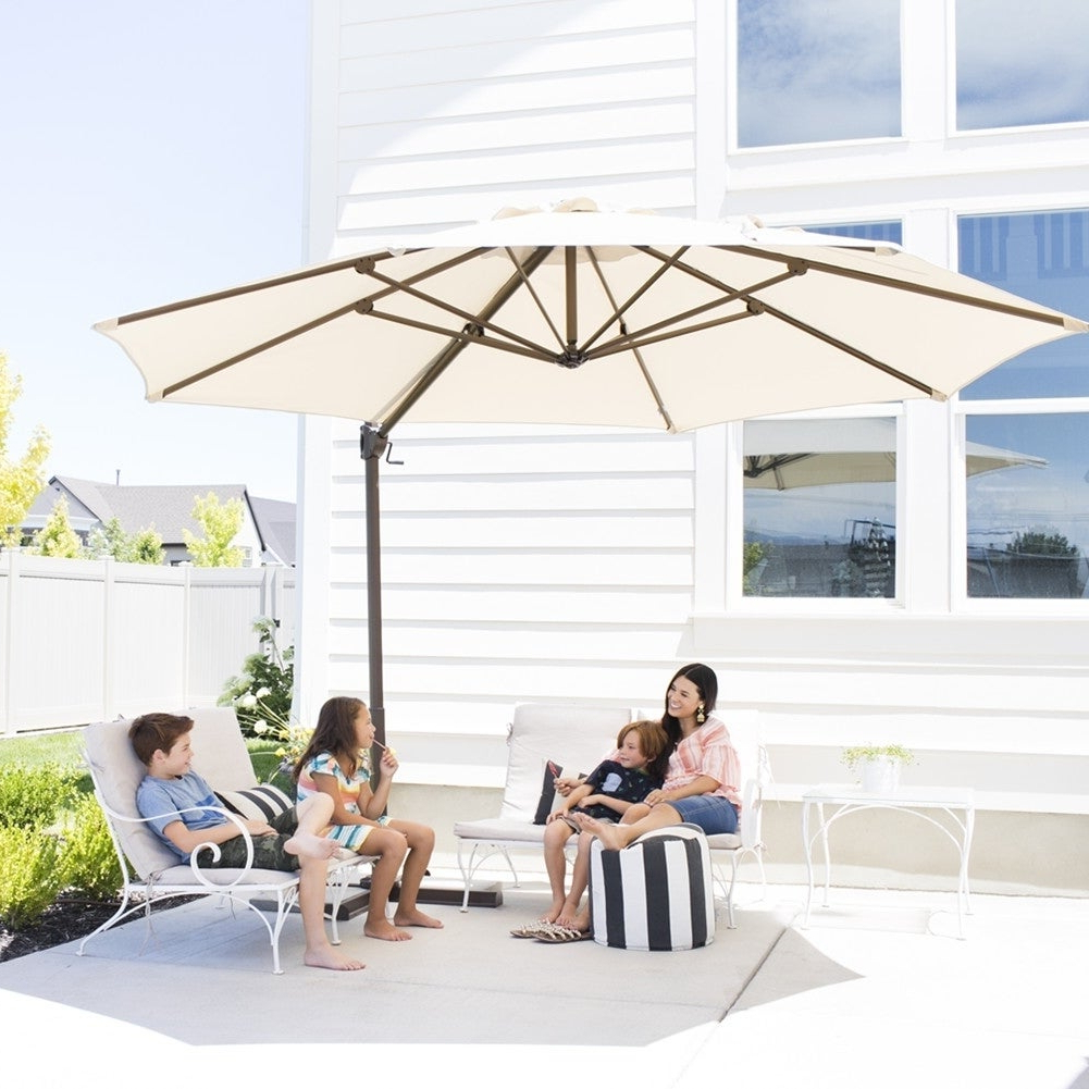 Well Liked Karr Cantilever Umbrellas Inside Patio Umbrellas & Shades (View 13 of 20)