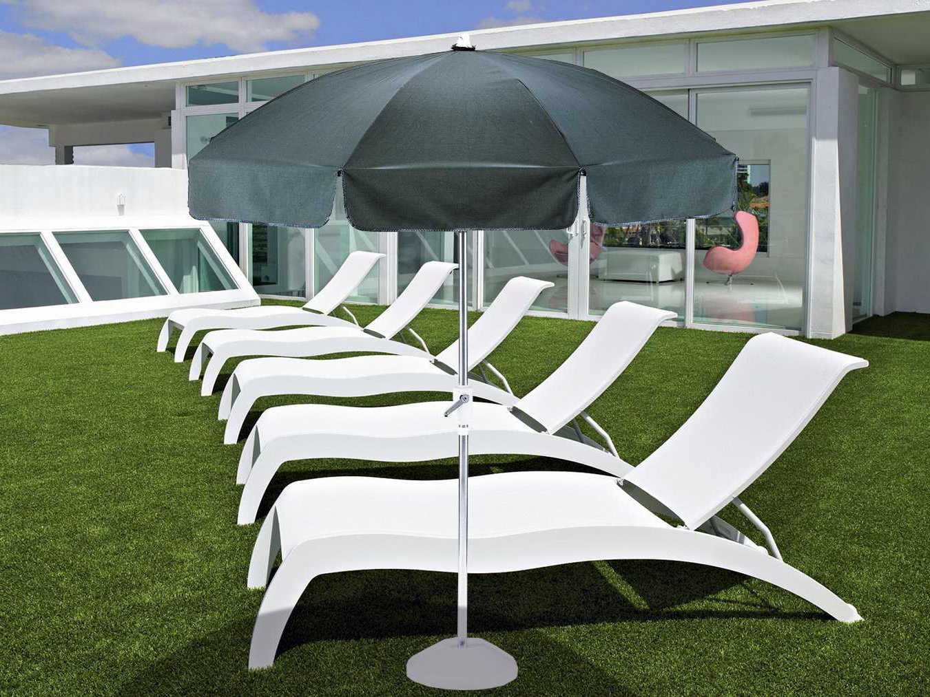 Well Liked Lora Market Umbrellas With Regard To Telescope Casual Drape Steel Round Push Button Tilt/crank Lift (View 19 of 20)