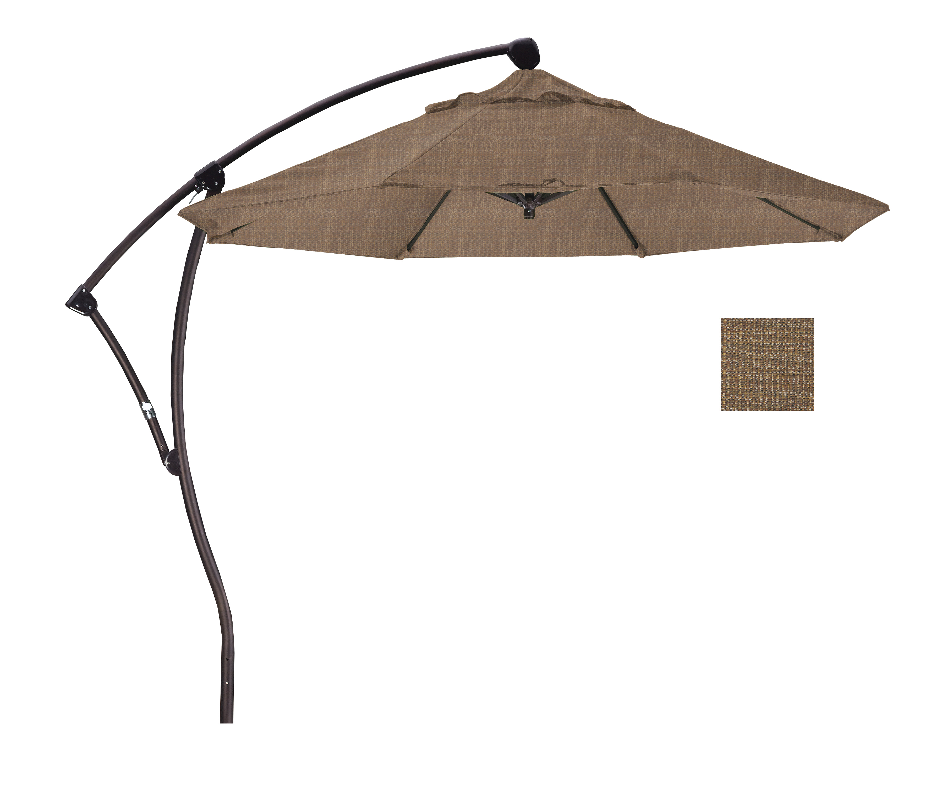 Widely Used 9 Bayside Series Cantilever With Bronze Aluminum Pole Aluminum Ribs Intended For Bayside Series Cantilever Umbrellas (View 20 of 20)