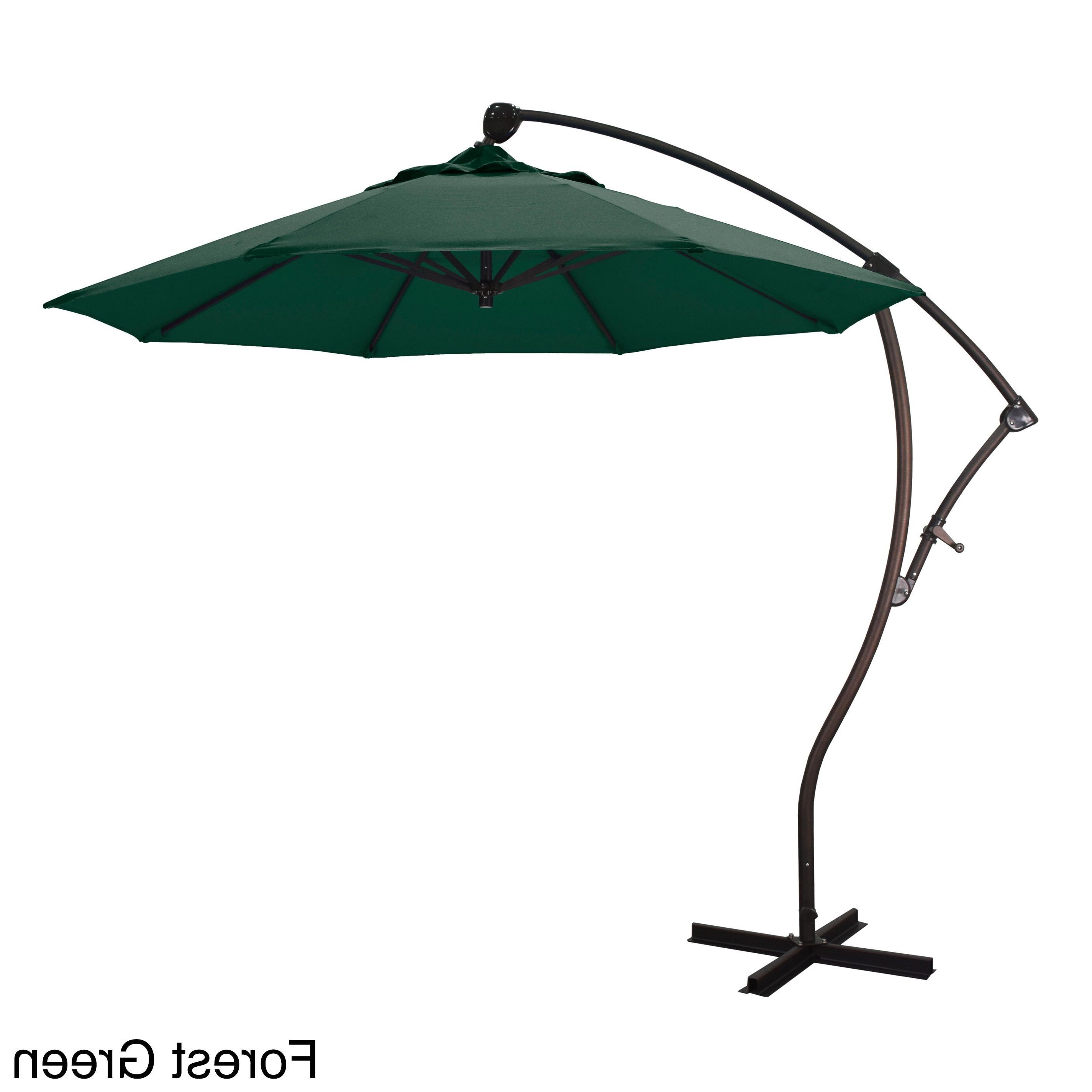 Widely Used California Umbrella 9' Rd Cantilever Market Umbrella, Crank Lift With Belles Market Umbrellas (View 16 of 20)