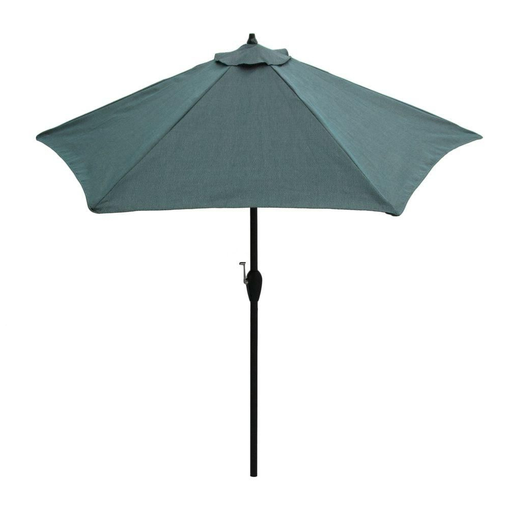 Widely Used Colburn Half Market Umbrellas Pertaining To Hampton Bay 9 Ft (View 20 of 20)