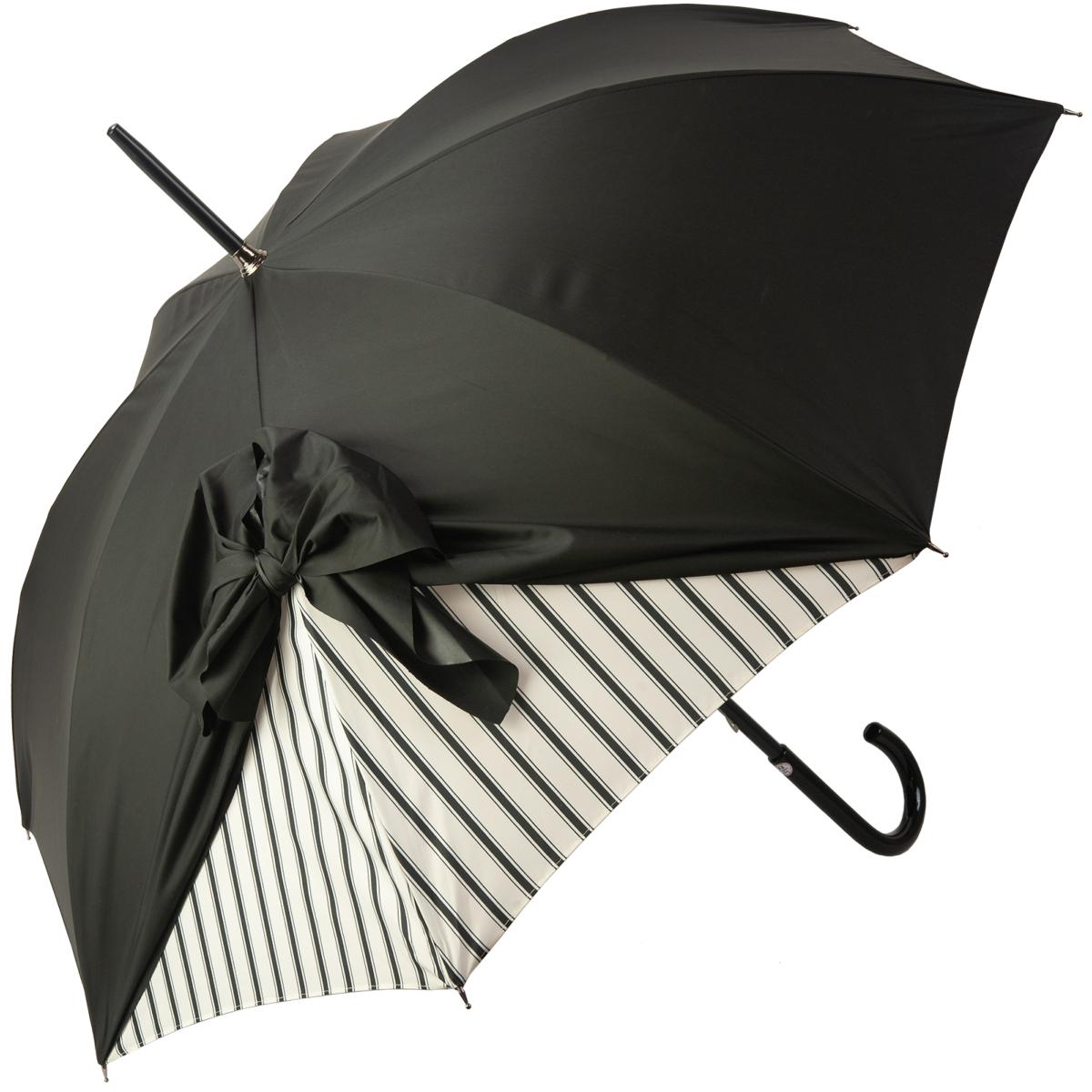 Widely Used Drape Umbrellas With Regard To Drape Bow Umbrella With Black Stripe On Creamchantal Thomass (View 20 of 20)