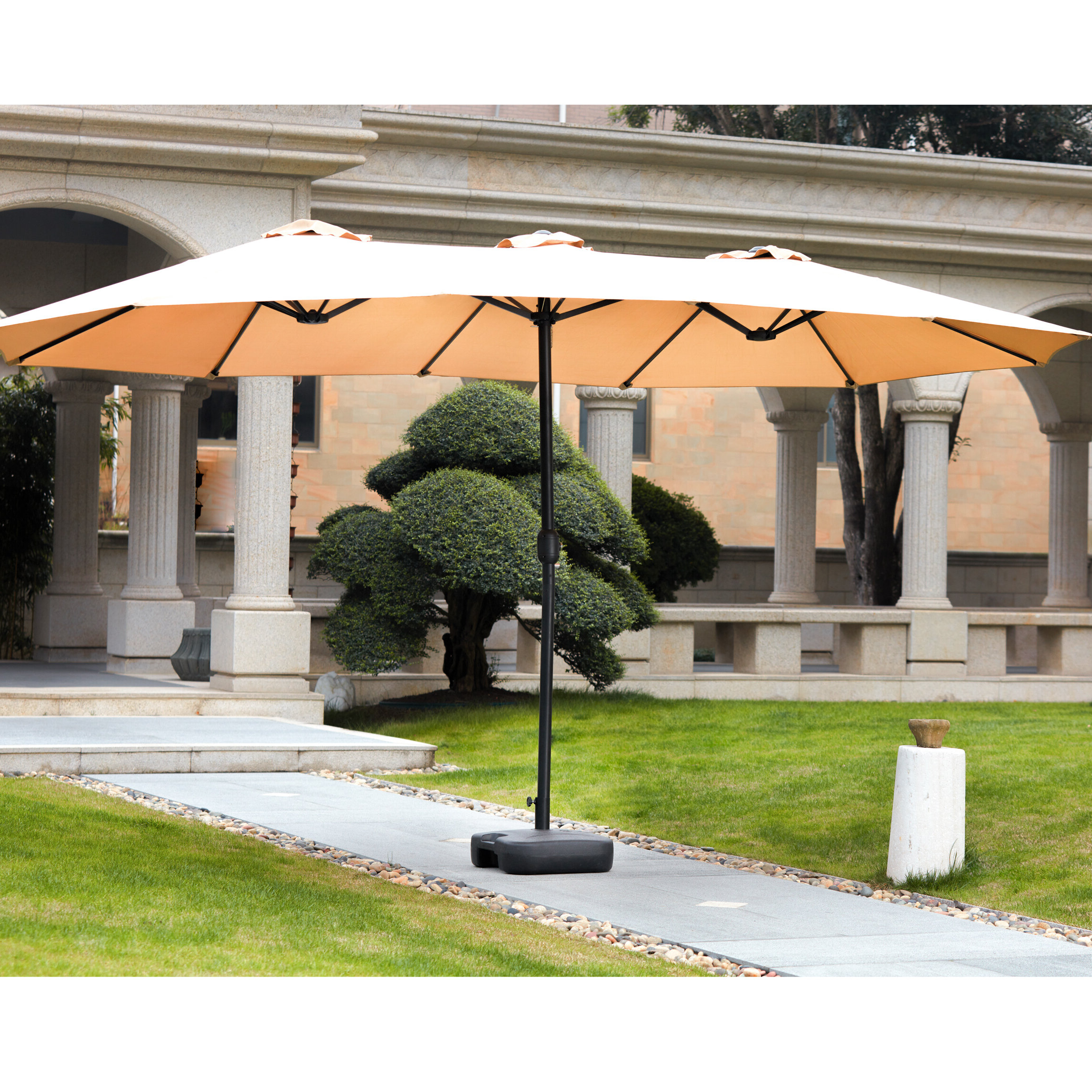 Widely Used Eisele 9' W X 15' D Rectangular Market Umbrella With Regard To Eisele Rectangular Market Umbrellas (View 18 of 20)