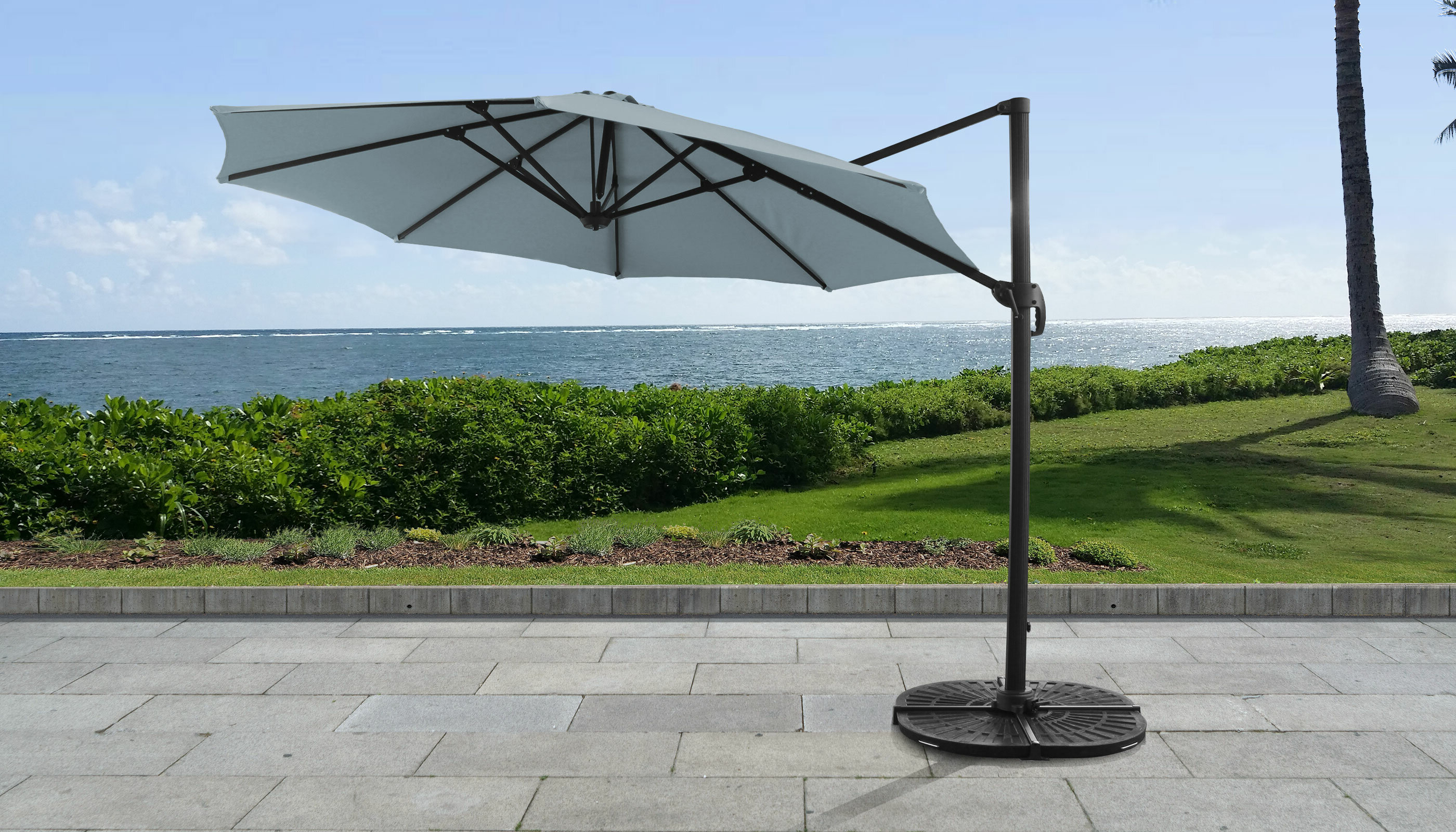 Widely Used Elaina 11' Cantilever Umbrella With Regard To Elaina Cantilever Umbrellas (View 19 of 20)
