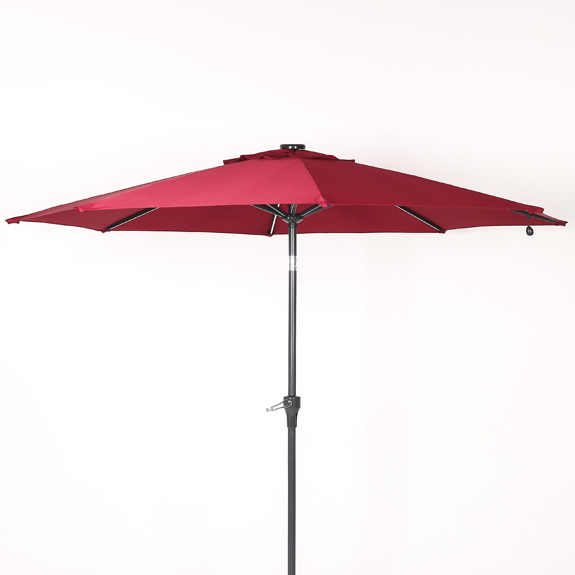 Widely Used Hettie Solar Lighted Market Umbrellas With Hatter 9' Market Umbrella (View 10 of 20)