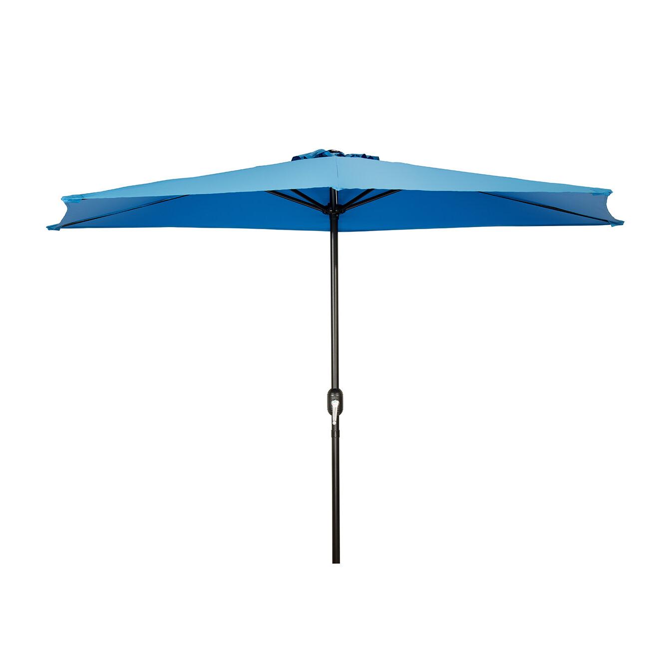Widely Used Julewitz Patio Half 9' Market Umbrella Regarding Lonoke Patio Rectangular Market Umbrellas (View 10 of 20)