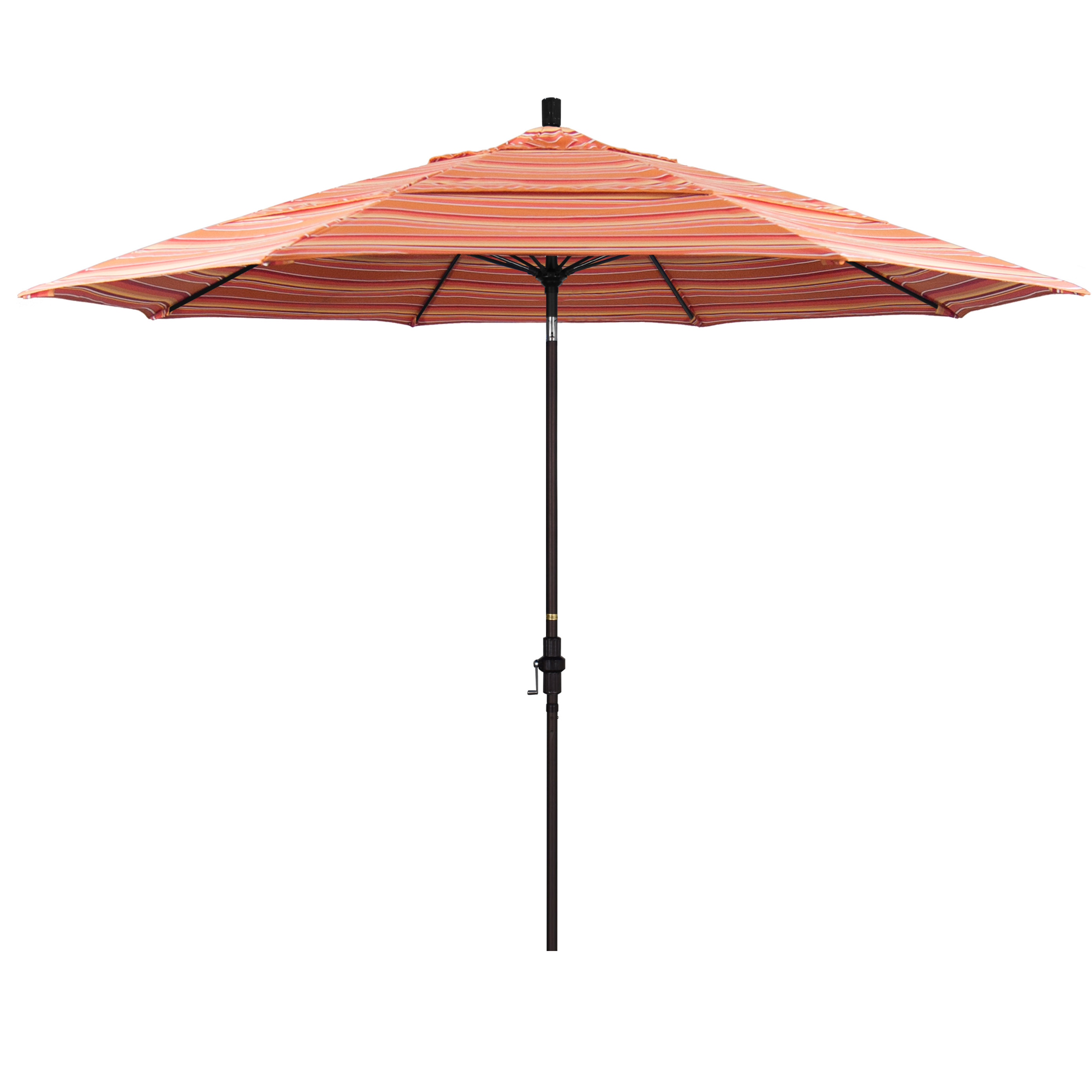 Widely Used Muldoon 11' Market Sunbrella Umbrella In Wiebe Auto Tilt Square Market Sunbrella Umbrellas (View 10 of 20)