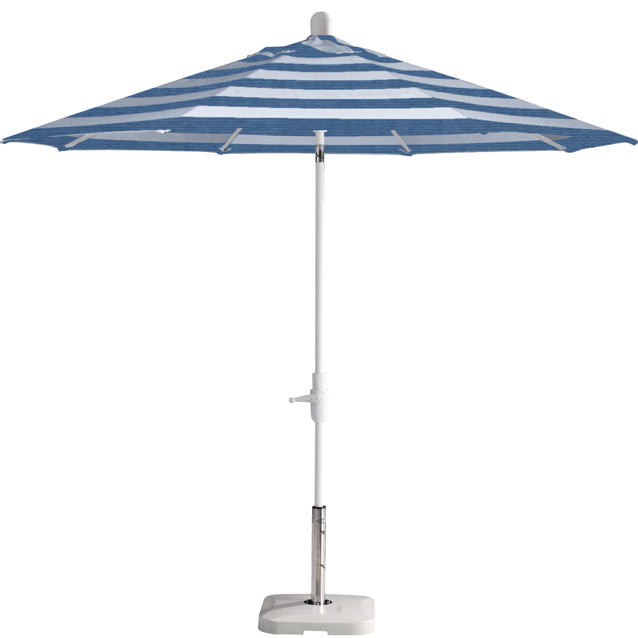 Wiebe Auto Tilt 9' Market Sunbrella Umbrella In Most Current Wieczorek Auto Tilt Rectangular Market Sunbrella Umbrellas (View 7 of 20)