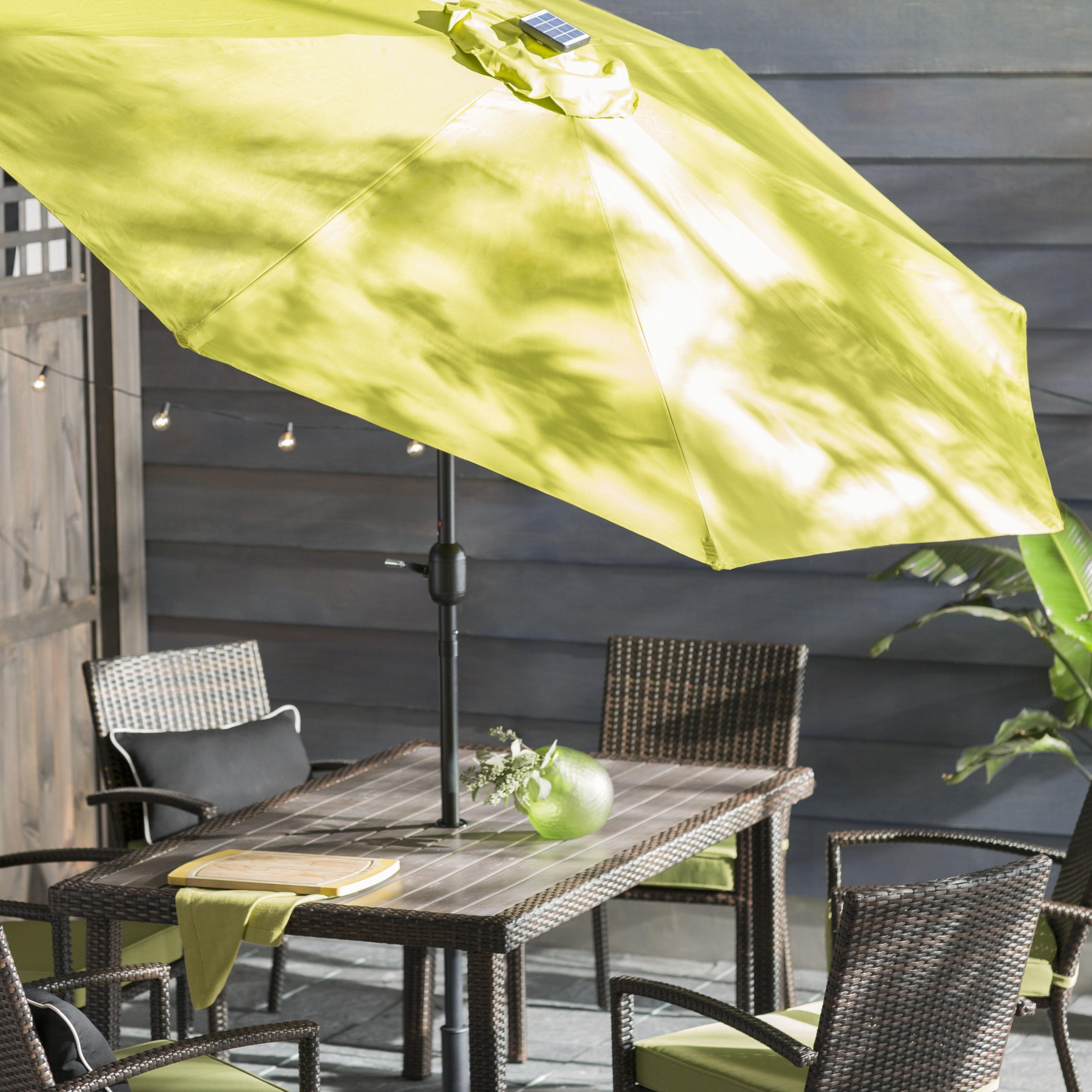 Woll 9' Lighted Market Umbrella With Regard To 2020 Woll Lighted Market Umbrellas (View 14 of 20)