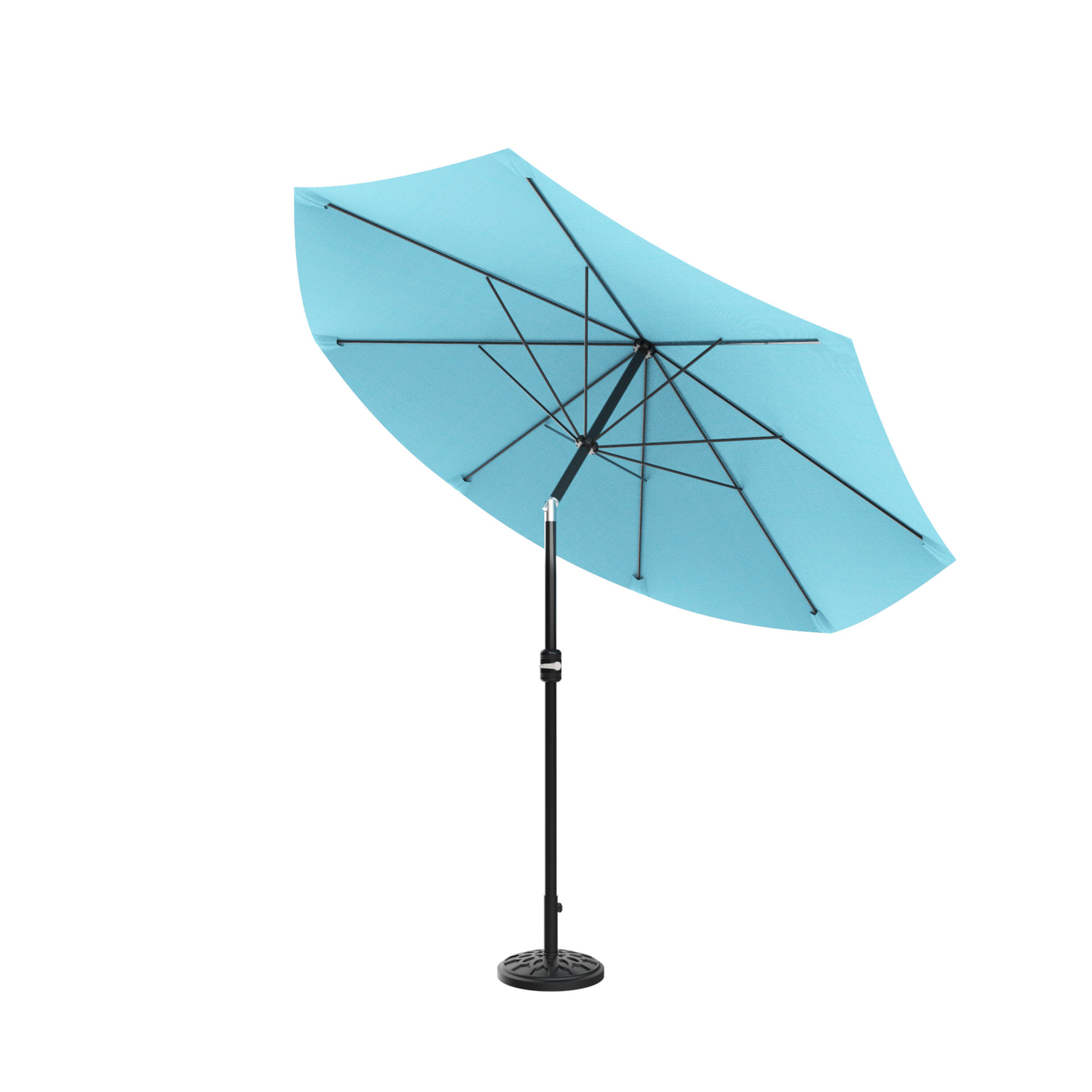 Woll Lighted Market Umbrellas In Best And Newest Kelton 10' Market Umbrella (View 15 of 20)