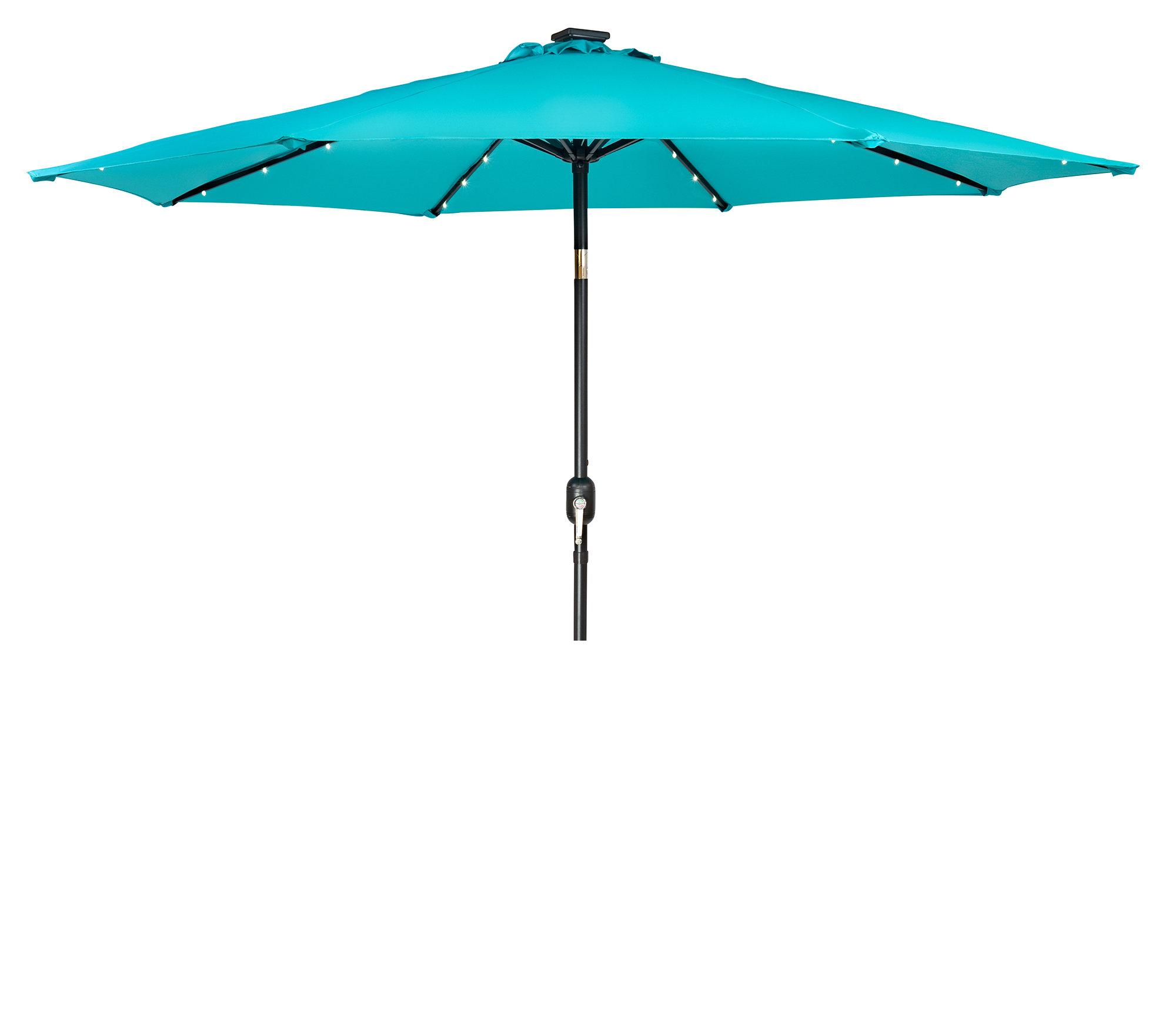 Woll Lighted Market Umbrellas Pertaining To Most Popular Woll 9' Lighted Market Umbrella (View 3 of 20)