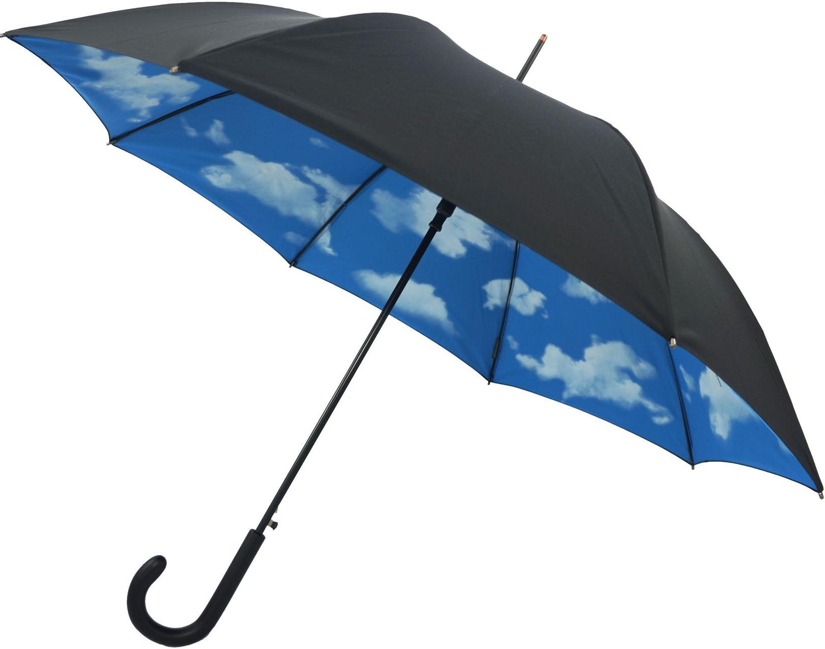Zeman Market Umbrellas Within Favorite Double Canopy Umbrella Blue Sky & Cloud Design Inside Black Outside (View 19 of 20)