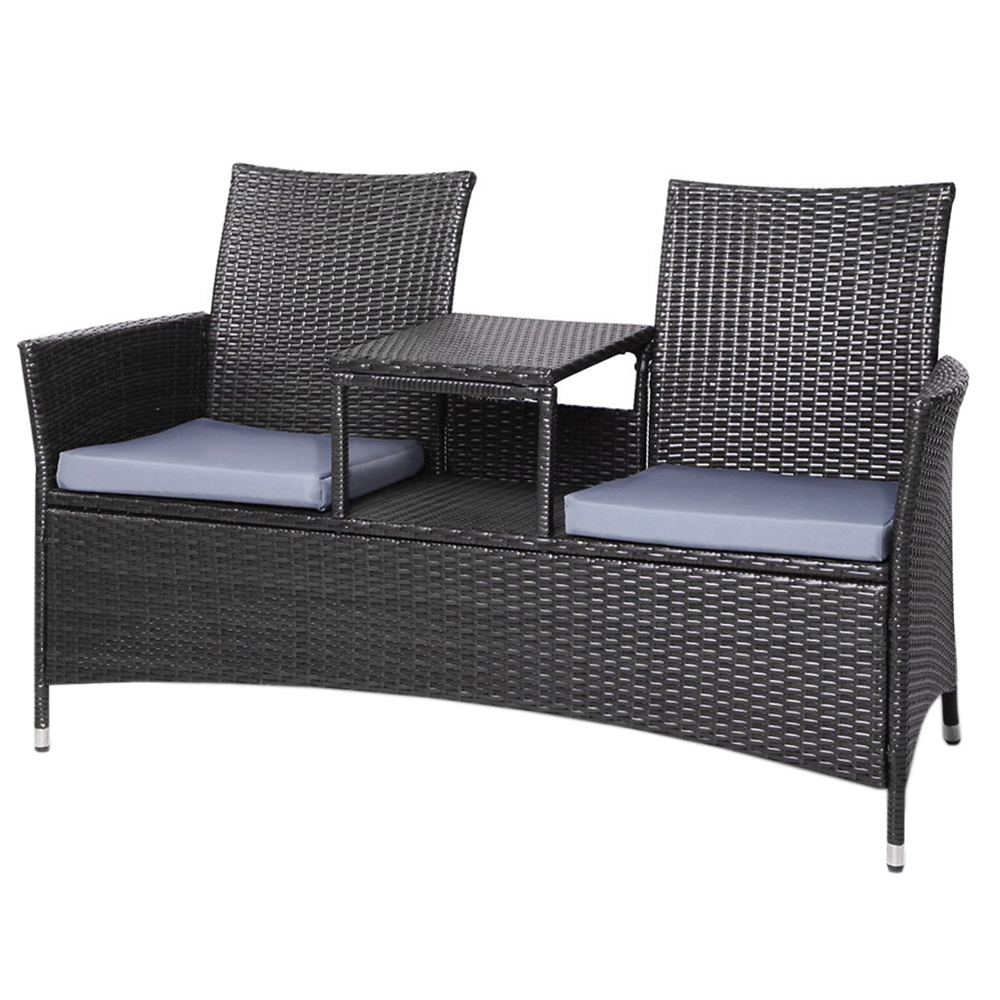2 Seater Bench & Table Set Pertaining To Current Sylvania Outdoor Loveseats (View 1 of 20)