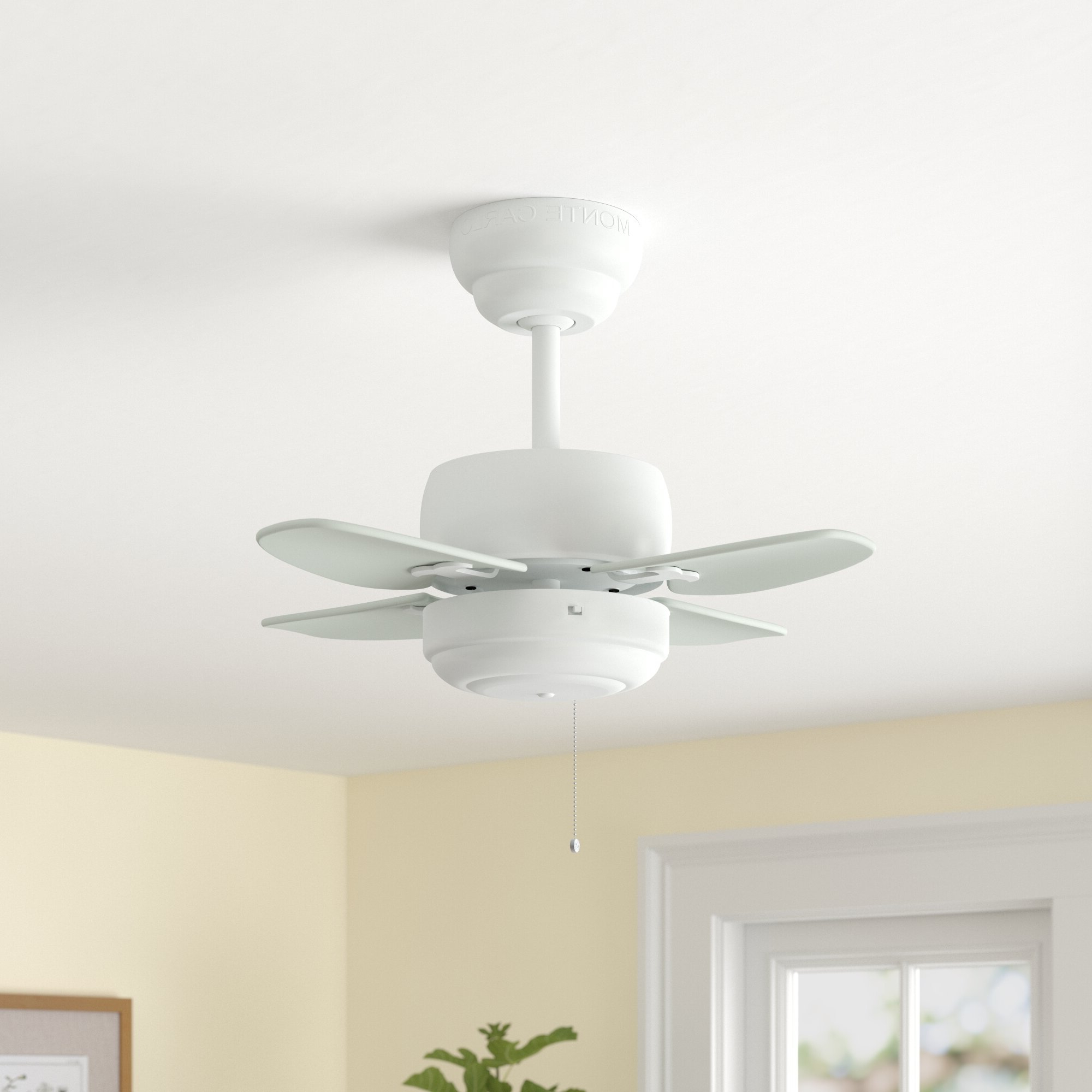 """20"""" Hemsworth 4 Blade Ceiling Fan With Recent Stewardson 4 Blade Ceiling Fans (View 1 of 20)"""