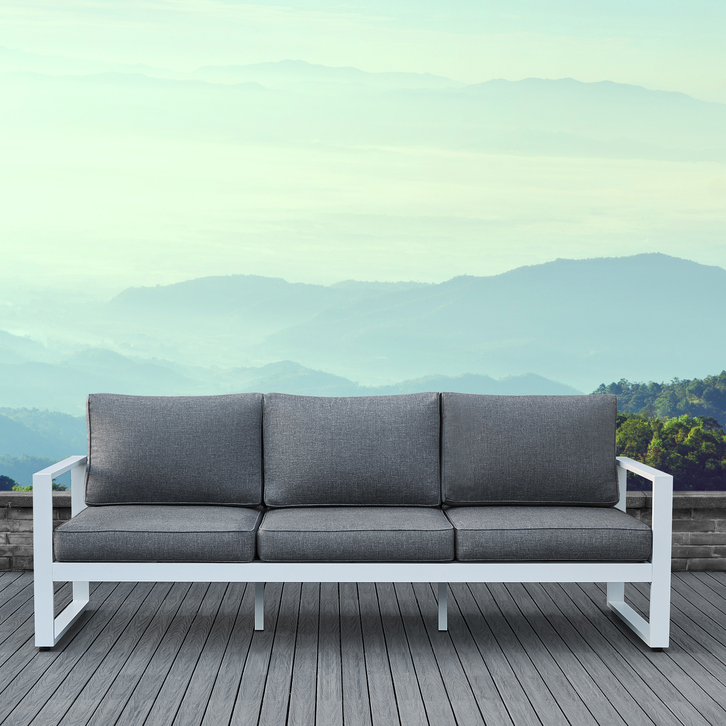 2019 Baltic Patio Sofa With Cushions Throughout Royalston Patio Sofas With Cushions (View 1 of 20)