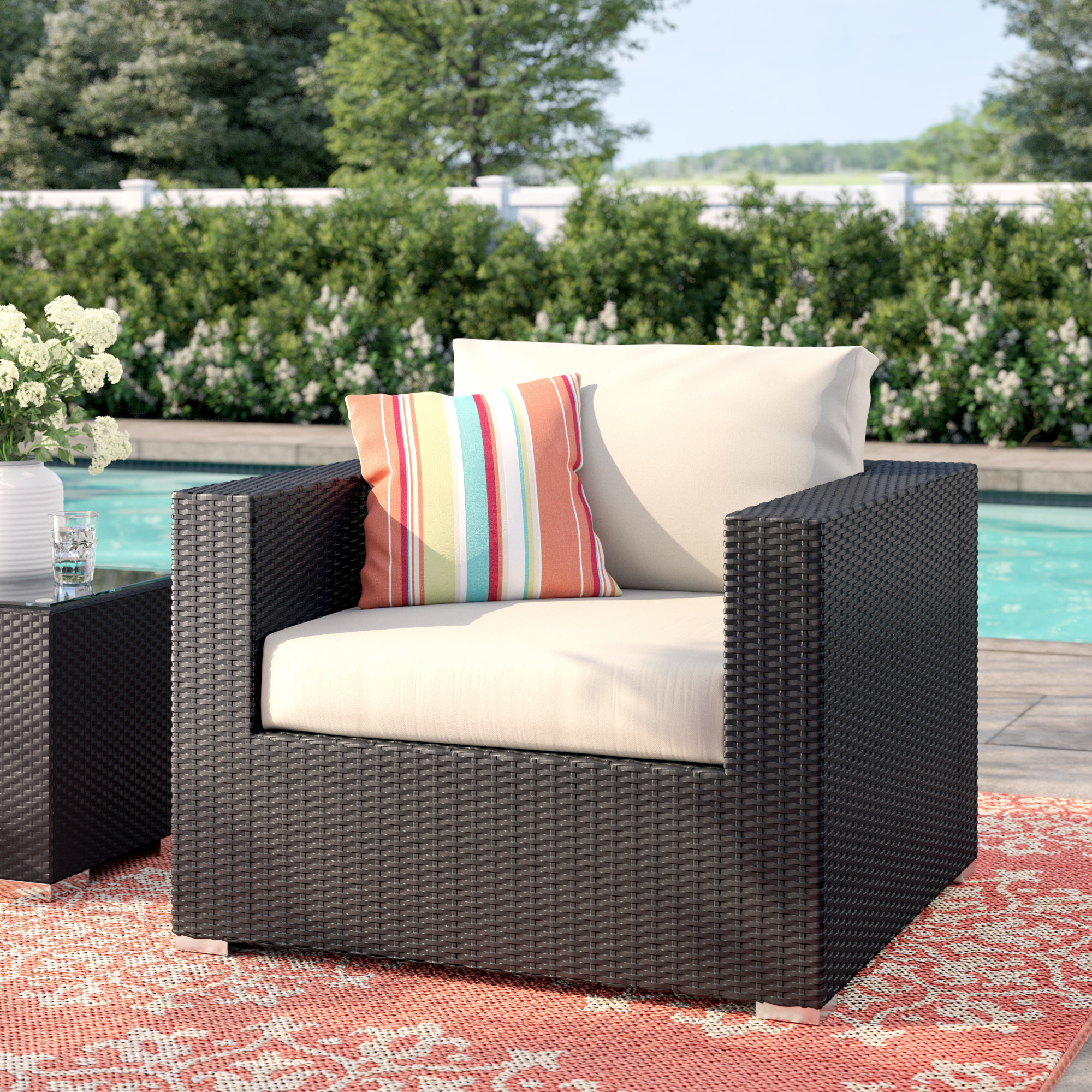 2019 Brentwood Patio Chair With Cushions Pertaining To Brentwood Patio Sofas With Cushions (View 2 of 18)