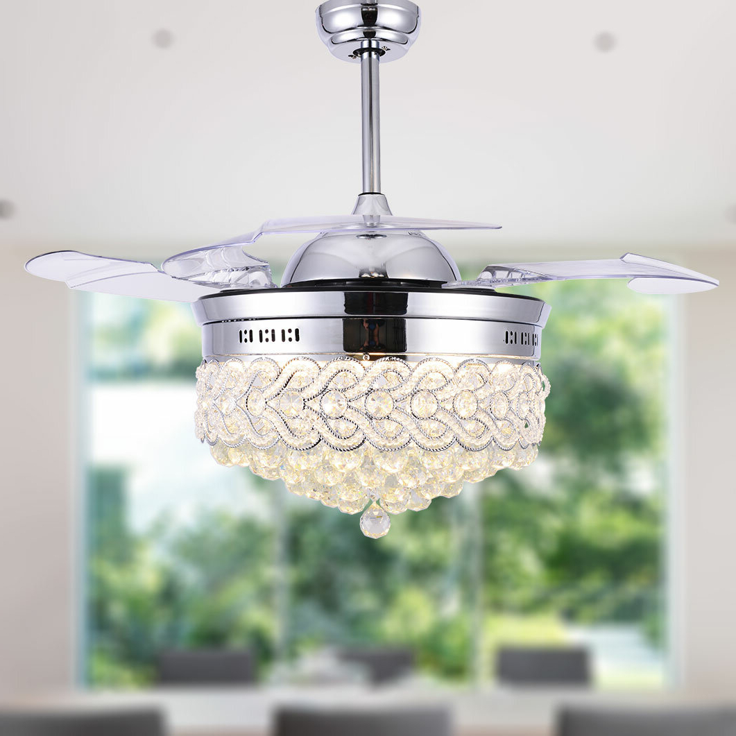 2019 Broxburne 4 Blade Led Ceiling Fans With Remote With House Of Hampton Aadvik 4 Blade Led Ceiling Fan With Remote (View 2 of 20)