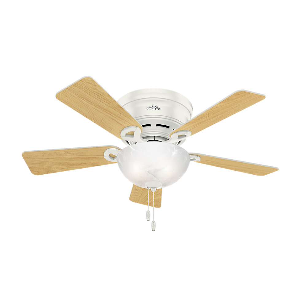 "2019 Conroy 5 Blade Ceiling Fans With Regard To Details About Hunter Haskell 42 Haskell 42"" 5 Blade Hugger Ceiling Fan – Bronze (View 13 of 20)"
