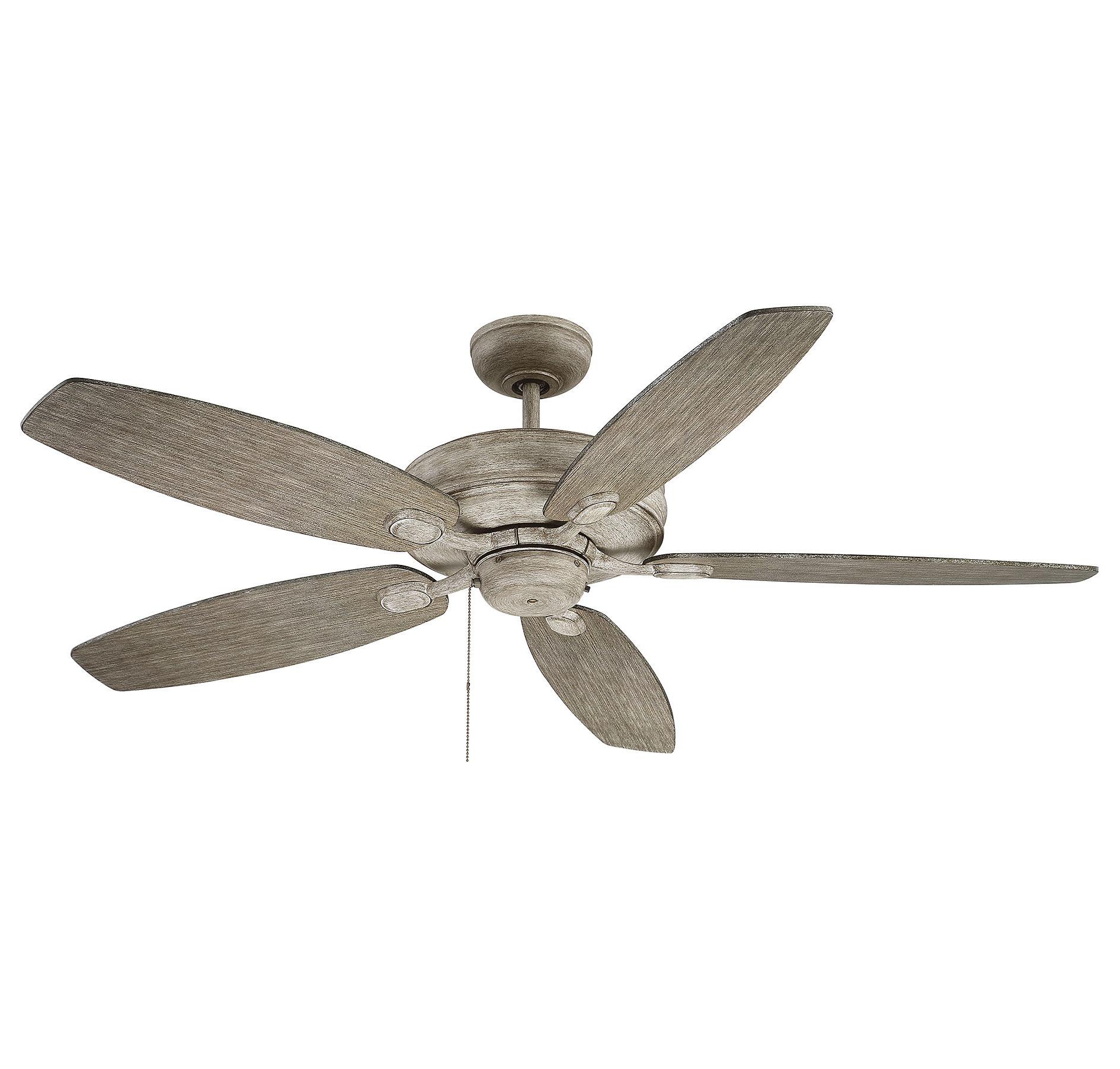 """2019 Genevie 52"""" Kentwood 5 Blade Ceiling Fan Inside Cerro 5 Blade Ceiling Fans (View 1 of 20)"""