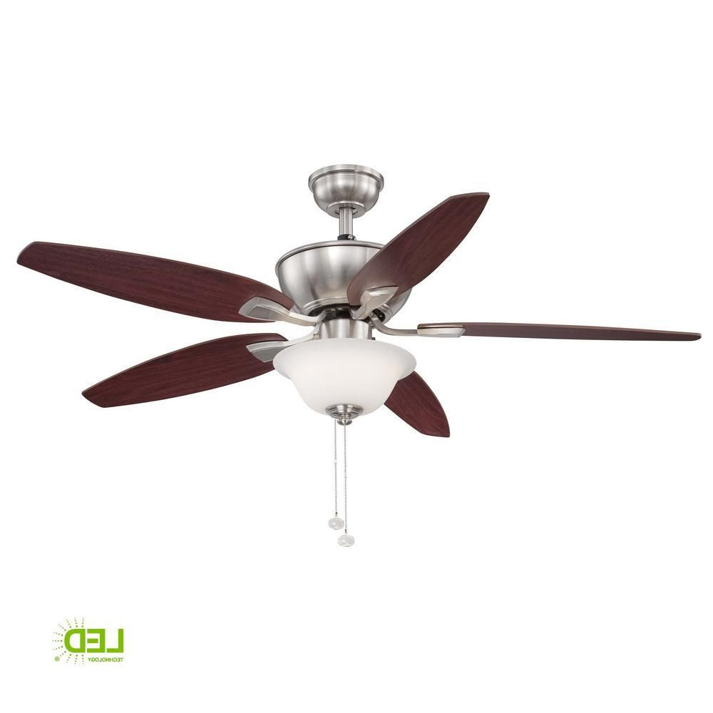 2019 Hampton Bay Carrolton Ii 52 In. Integrated Led Indoor Throughout Crumbley 5 Blade Ceiling Fans (Gallery 12 of 20)