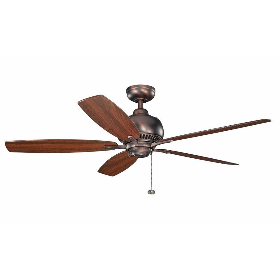 2019 Kichler Richland 52 In Oil Rubbed Bronze Indoor Ceiling Fan For Timeless 5 Blade Ceiling Fans (View 8 of 20)