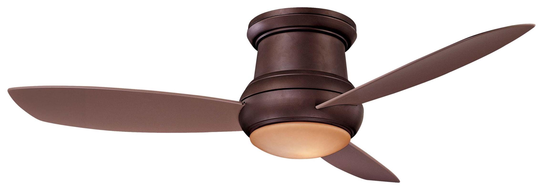 """2019 Minkaaire Concept Ii Outdoor 52 Led 3 Blade 52"""" Flushmount Within Concept Ii 3 Blade Led Ceiling Fans With Remote (View 2 of 20)"""