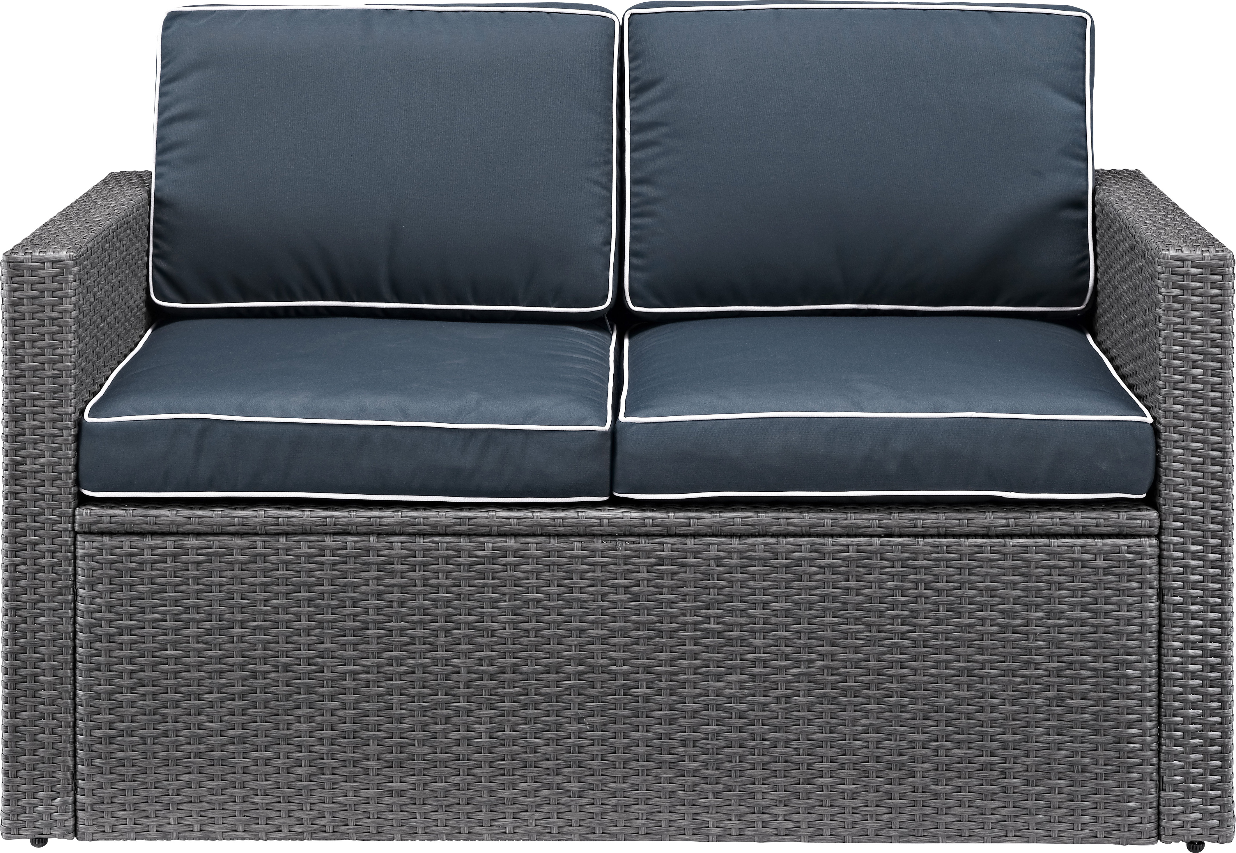 2019 Palm Harbor Loveseat With Cushion In Calvin Patio Loveseats With Cushions (View 1 of 20)