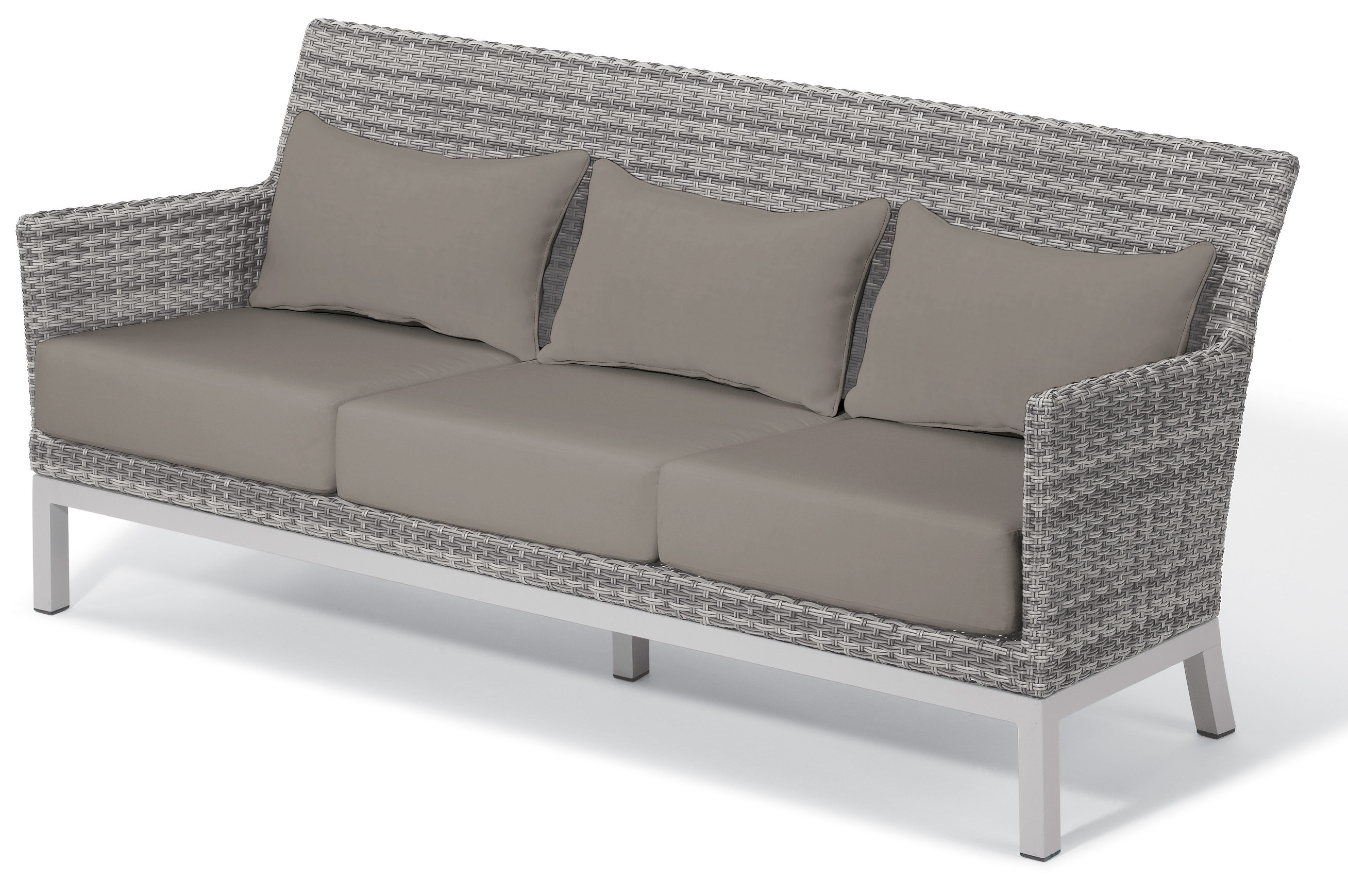 2019 Saleem Patio Sofa With Cushions Within Keever Patio Sofas With Sunbrella Cushions (View 2 of 20)