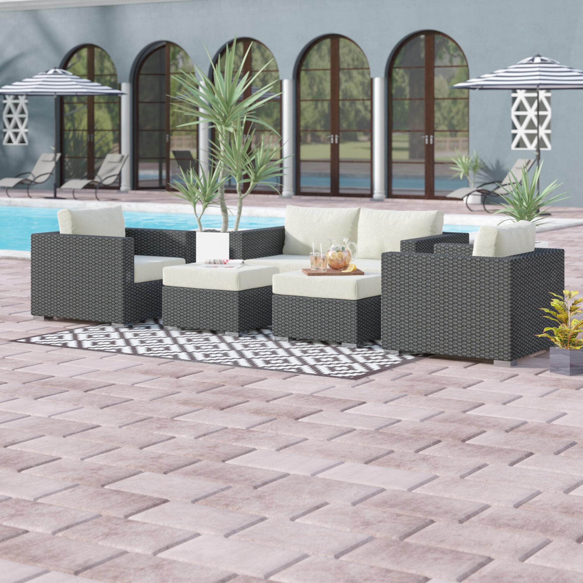 2019 Tripp Sofa With Cushions Regarding Tripp 5 Piece Sunbrella Sofa Set With Cushions (Gallery 6 of 20)