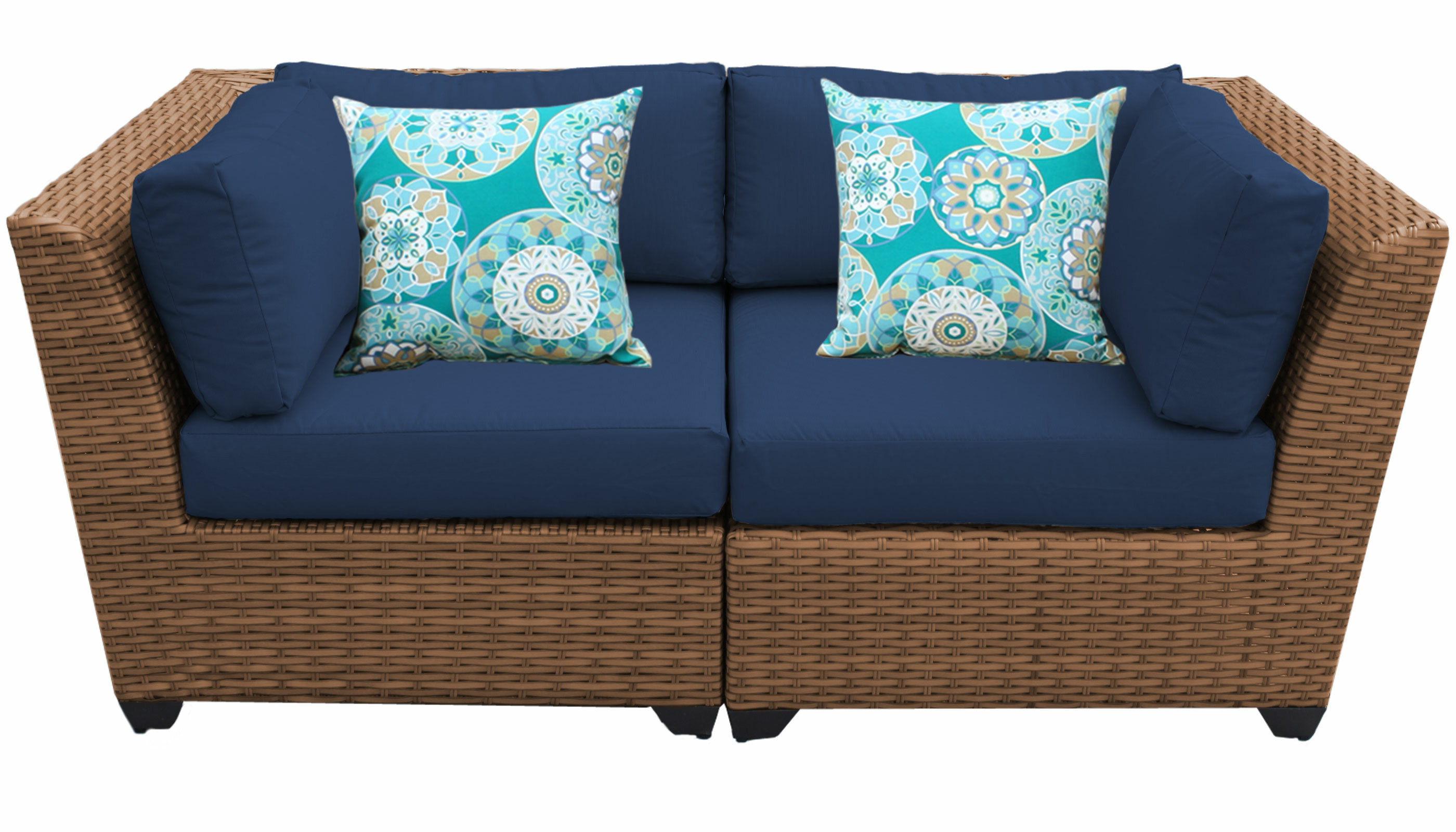 2019 Waterbury Curved Armless Sofa With Cushions Within Waterbury Loveseat With Cushions (View 18 of 20)