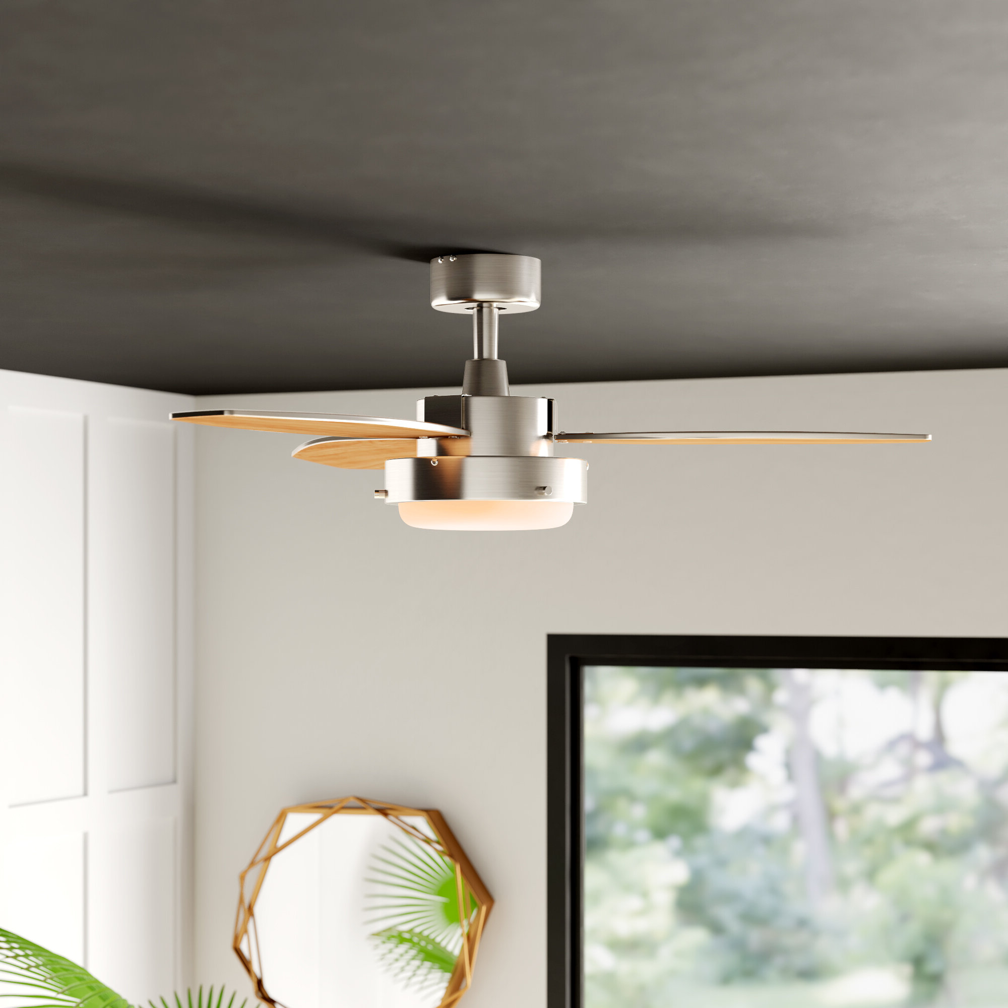 "2020 42"" Corsa 3 Blade Ceiling Fan Light Kit Included Throughout Aker 3 Blade Led Ceiling Fans (View 1 of 20)"