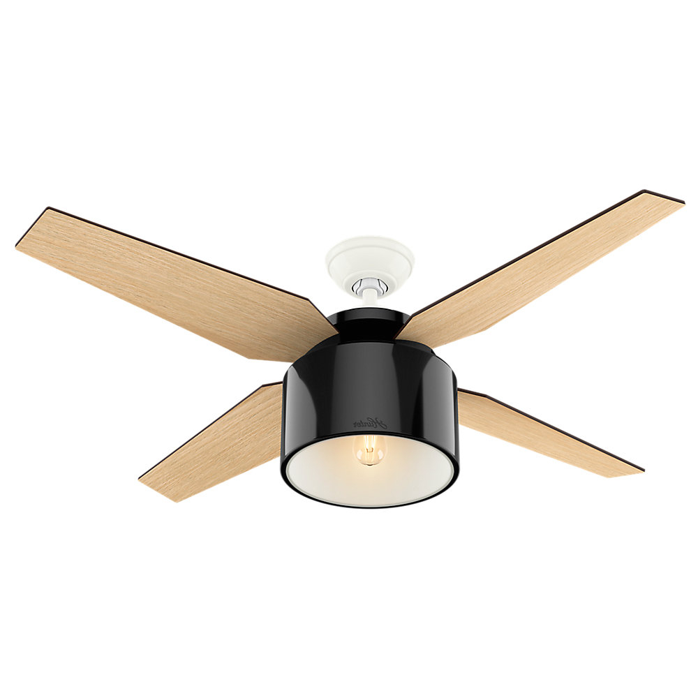 """2020 Cranbrook 4 Blade Ceiling Fans In 52"""" Cranbrook 4 Blade Ceiling Fan With Remote (View 1 of 20)"""