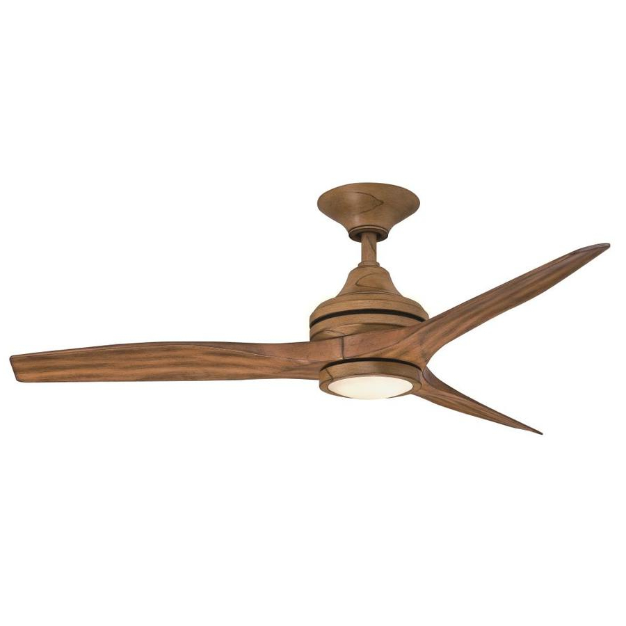 2020 Fanimation Spitfire 48 In Brown Led Indoor/outdoor Ceiling In Spitfire 3 Blade Ceiling Fans (View 3 of 20)
