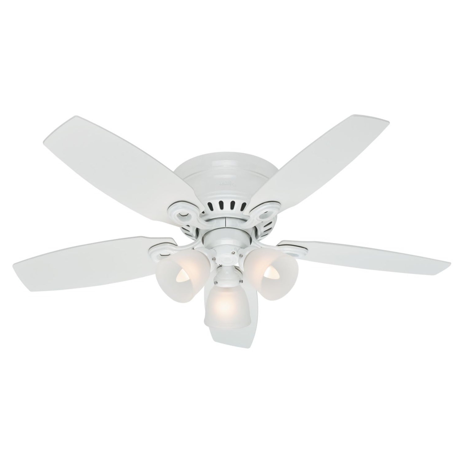 "2020 Hunter Fan 46"" Hatherton – White Intended For Hatherton 5 Blade Ceiling Fans (View 4 of 20)"