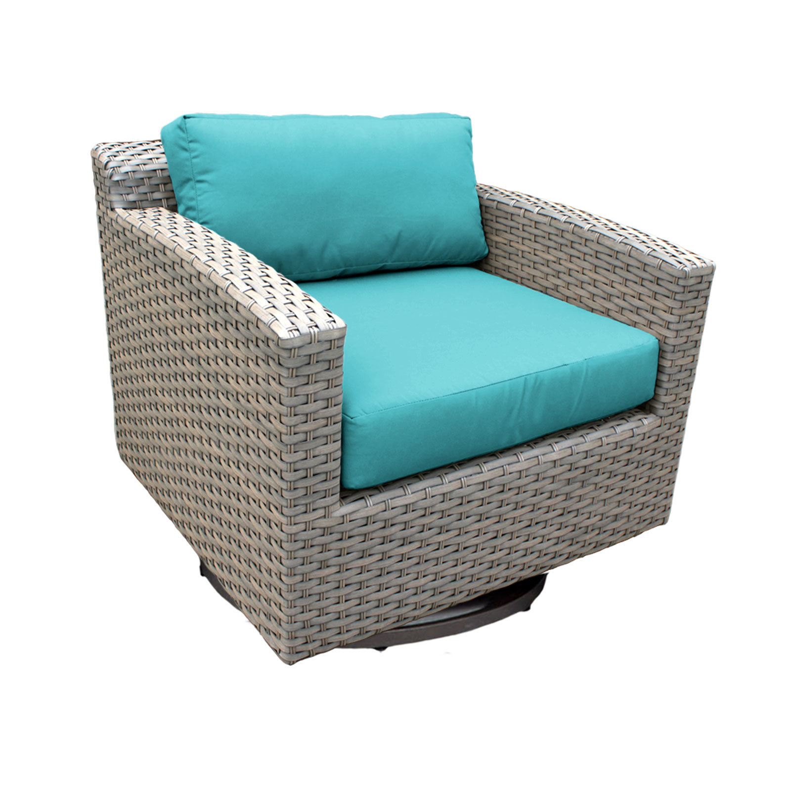 2020 Meeks Swivel Patio Chair With Cushions With Regard To Meeks Patio Sofas With Cushions (Gallery 7 of 20)